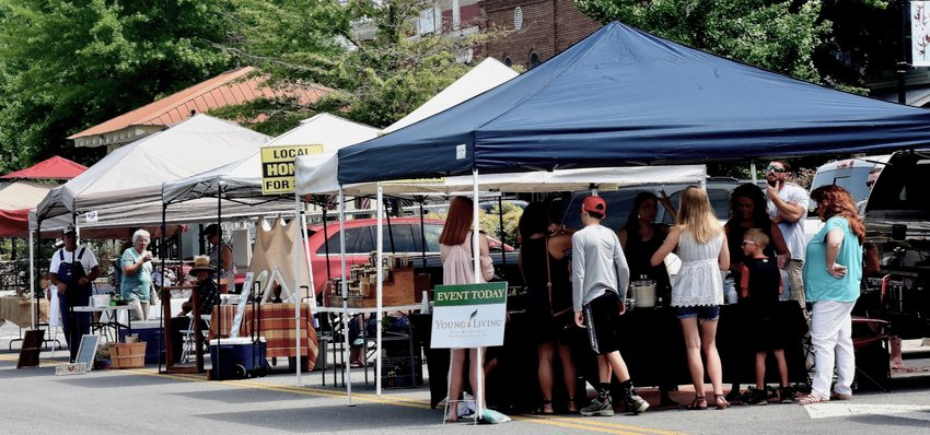 The Adairsville Farmers Market will be presented each Saturday from June 5 to Sept. 25 from 8 a.m. to noon in the downtown Public Square's lower parking lot.