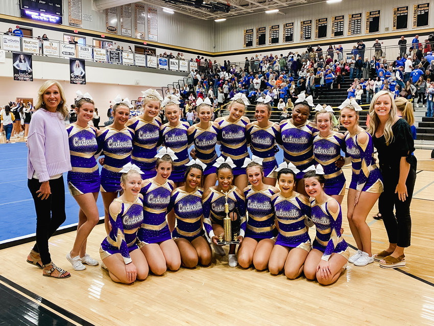 The Cartersville competition cheer team finished first in the Class 5A division Saturday in the Jacket Jam at Calhoun.