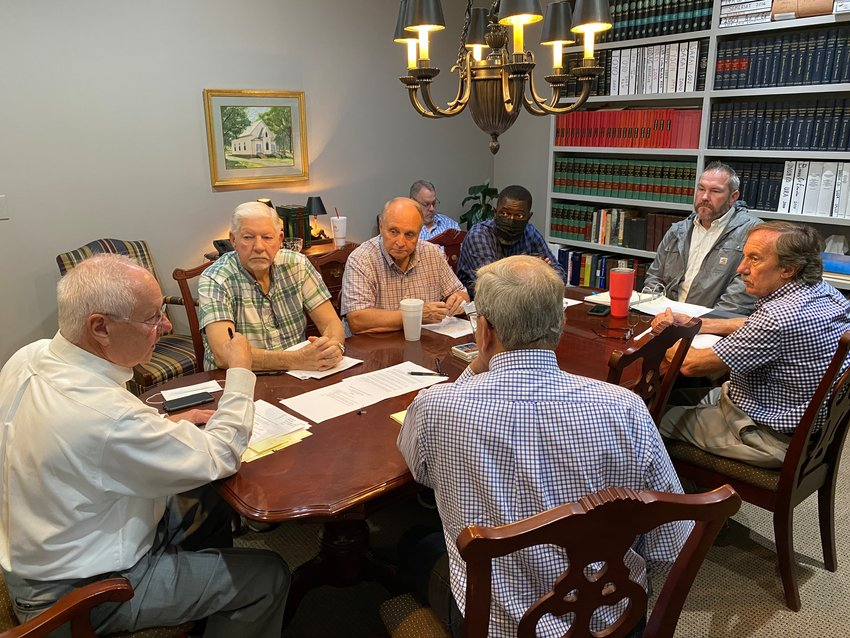 Members of the Development Authority of Bartow County gather for an Oct. 8 public meeting.