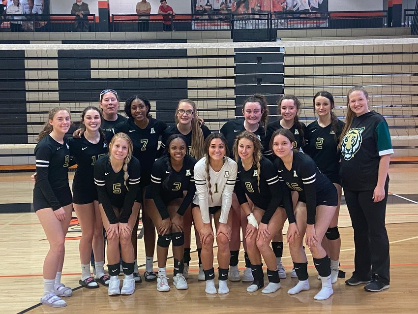 The Adairsville volleyball team poses for a photo after finishing fourth in the Area 6-3A tournament Saturday at LaFayette.