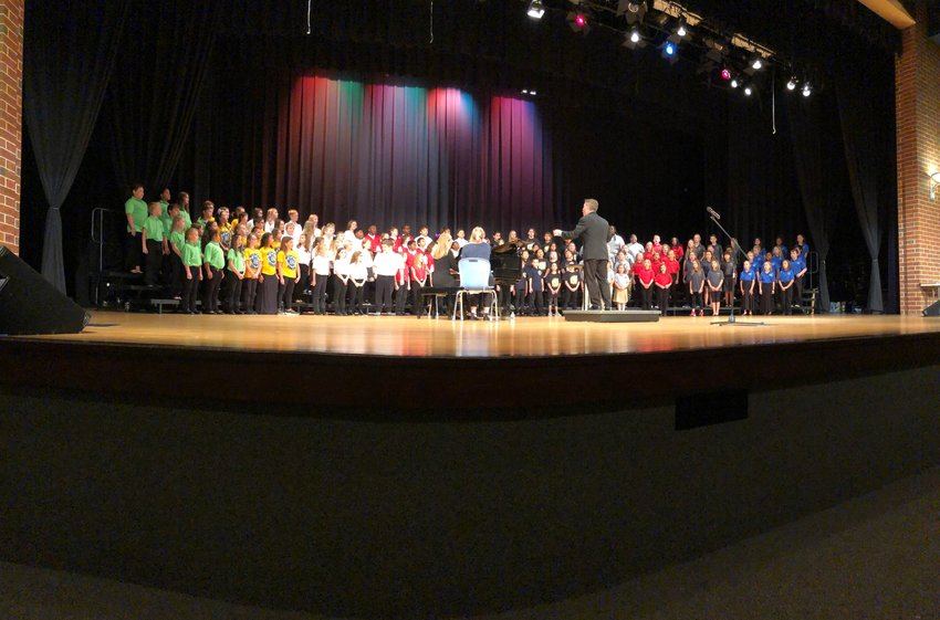 The 2019 Bartow County Elementary Honor Chorus presented its annual concert two years ago — COVID canceled last year's show — at Cass High with guest conductor Frank Bennett.