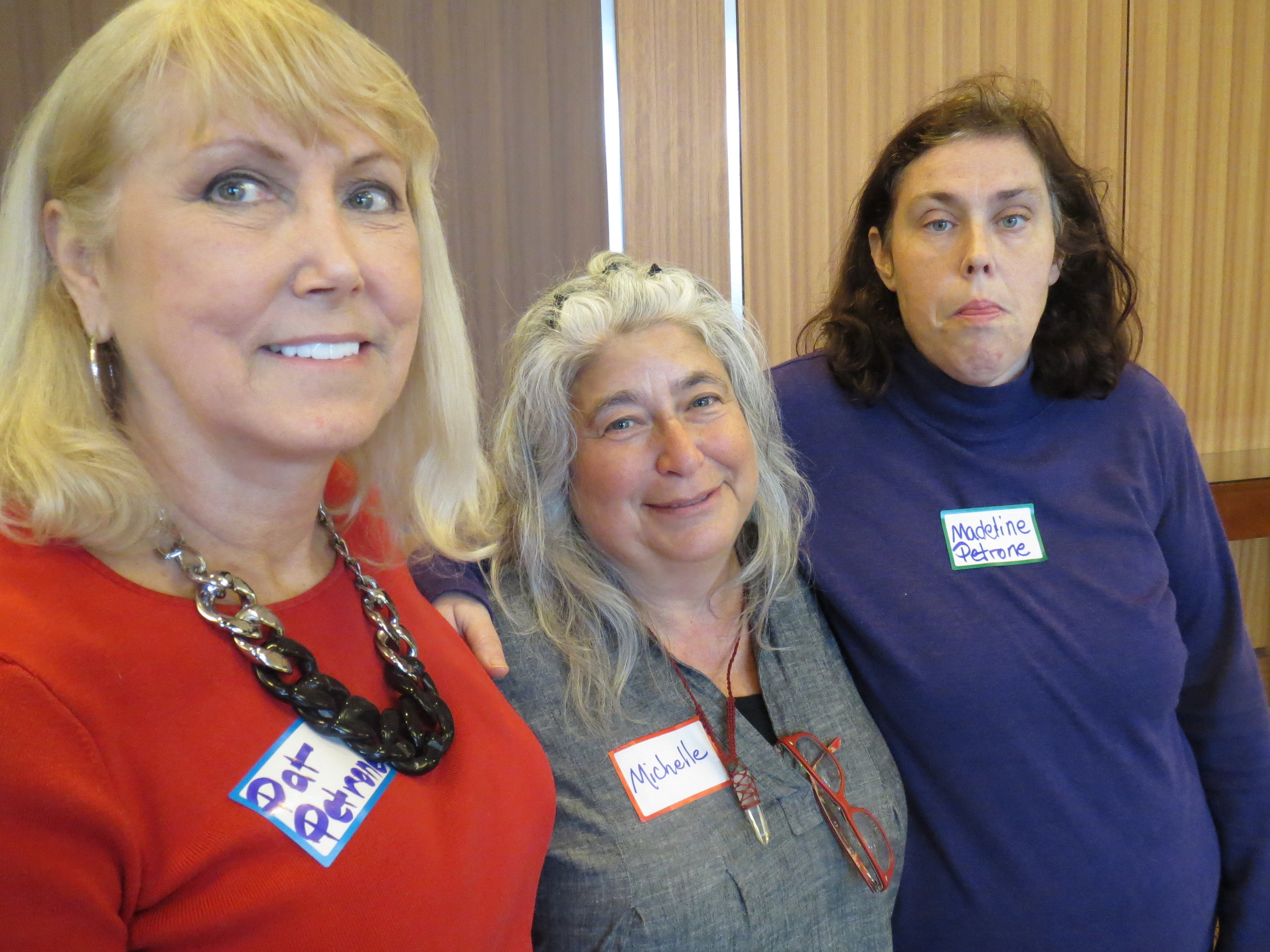 From left, Pat Petrone Walczak, Michelle Schwartz and Madeline Petrone all champion Georgia's growing self-advocacy movement.