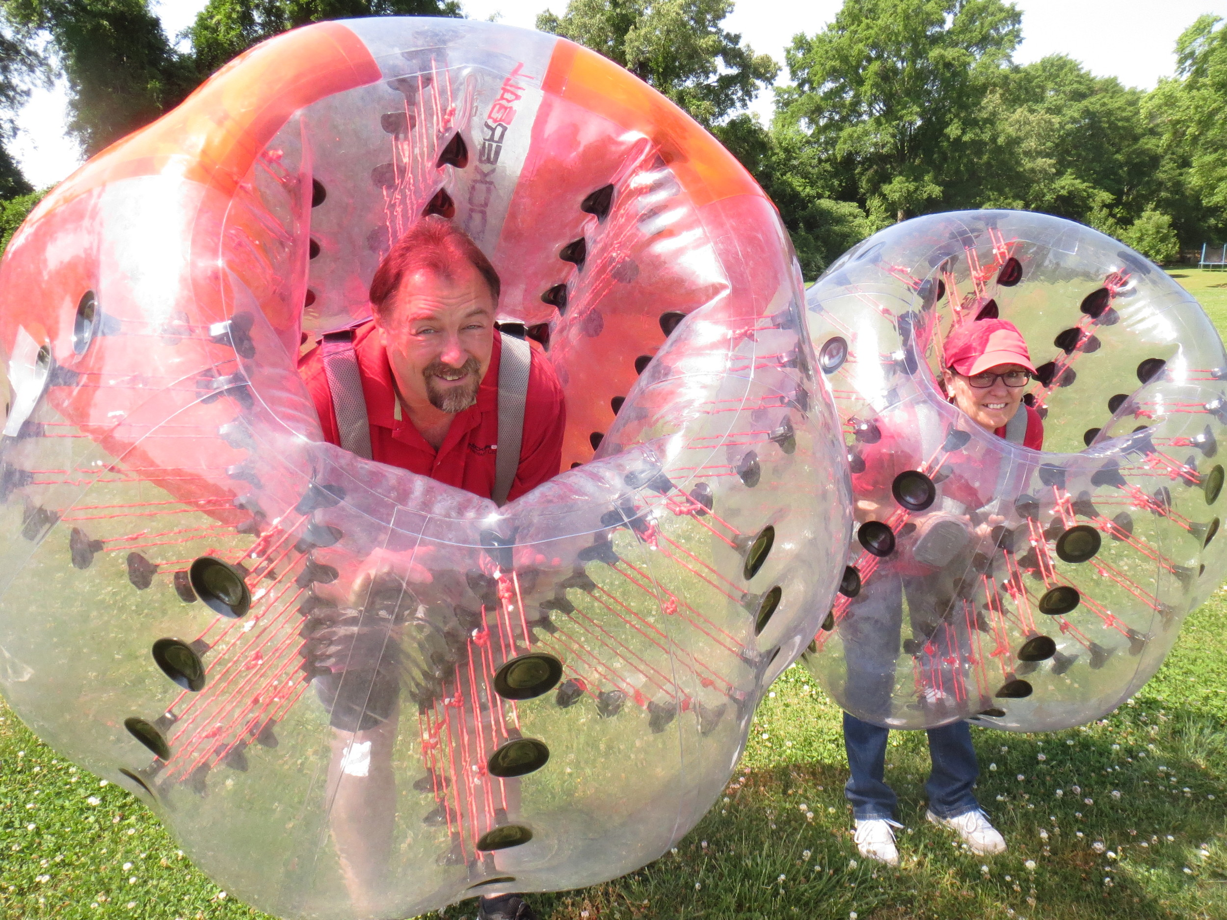 "Craig and Dianna Bradley, operators of KnockerBall Northwest Georgia, have been bringing the gift of ""bubble soccer"" to Bartow and beyond since fall 2016."