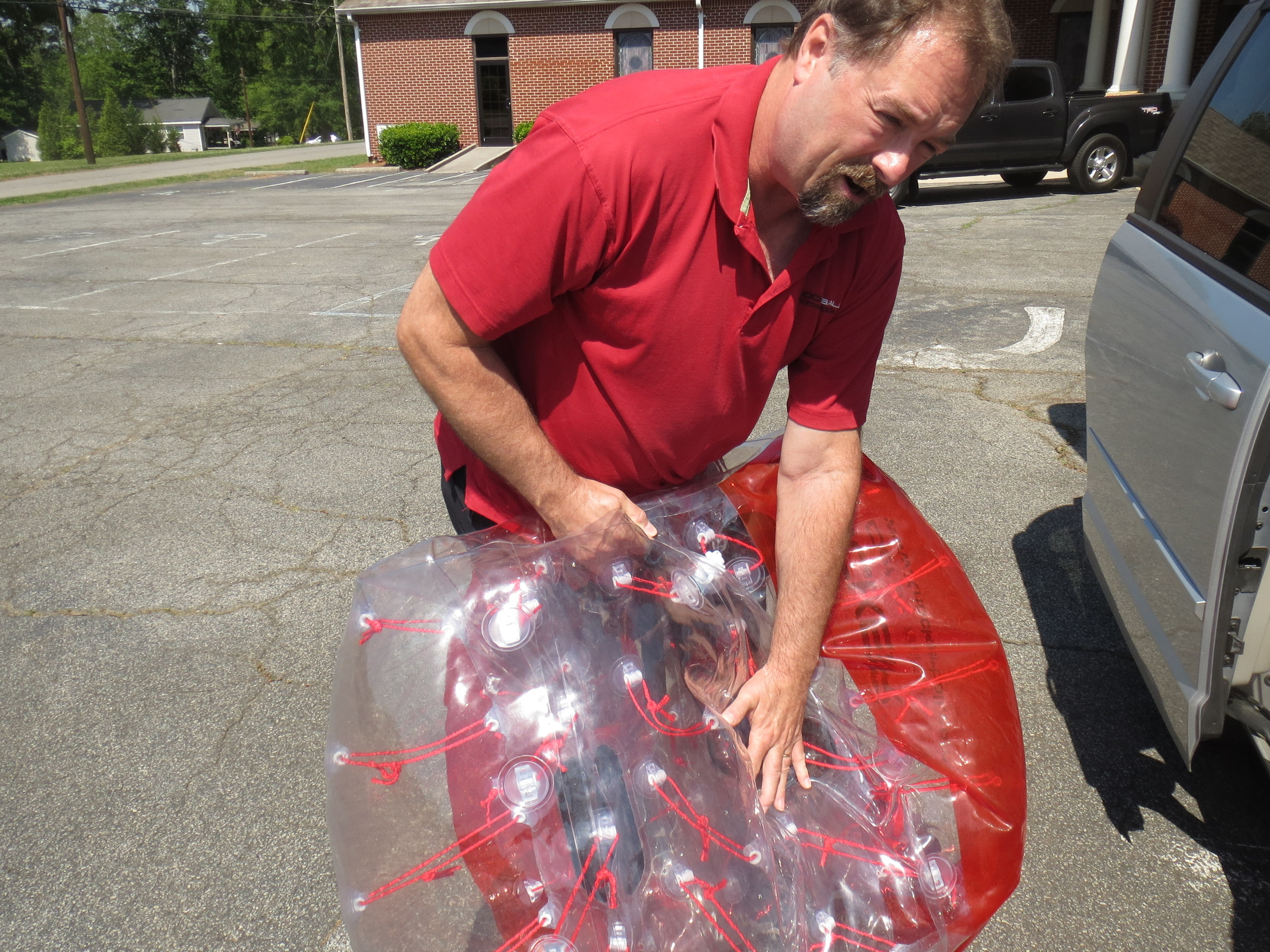 What's the appeal of KnockerBalls? Craig Bradley says it's a  fun — and safe — way to get out some playful aggression.