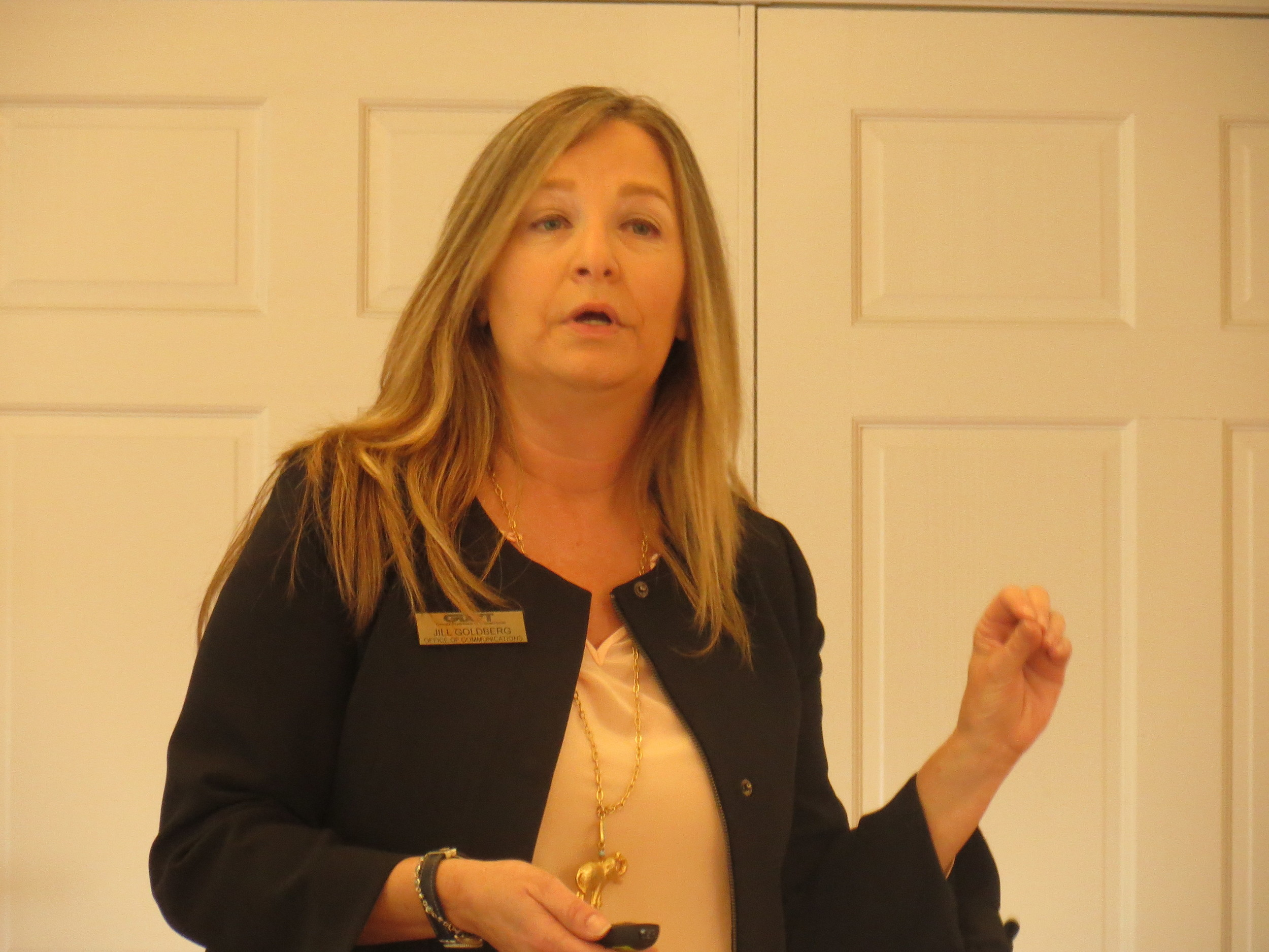 GDOT representative Jill Goldberg spoke at the Cartersville-Bartow County Chamber of Commerce Monday morning.