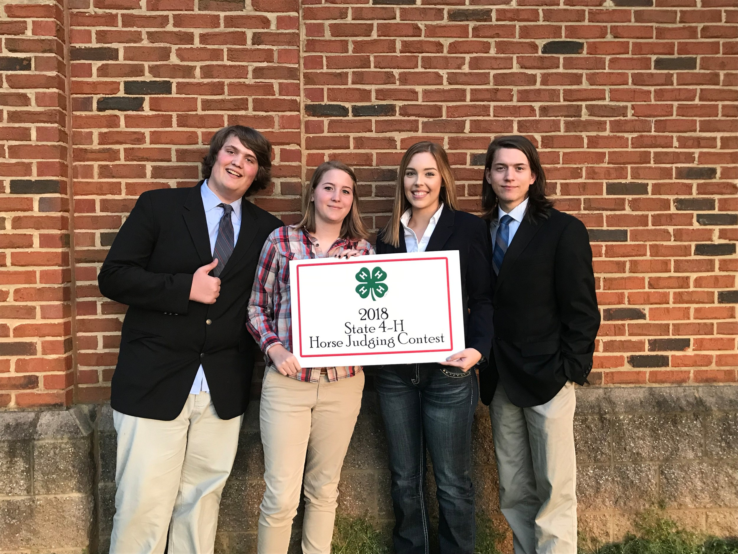 4 H Senior Horse Judging Team Takes 4th Place At State Contest The