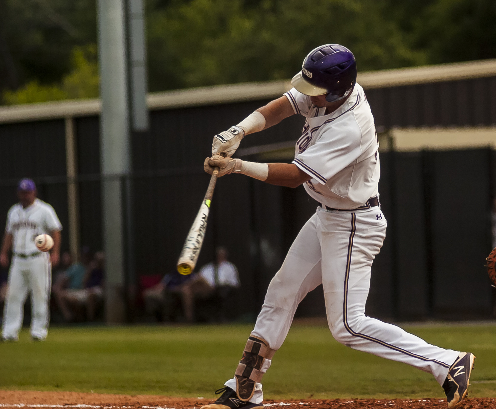 Cartersville's Devin Warner doubles during Game 1 of the Class 4A state playoff series at Richard Bell Field against Heritage on May 15. Warner was selected in the 30th round Wednesday in the MLB Draft.
