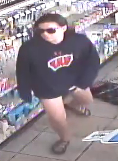 Pictured is one of two suspects in an Adairsville convenience store robbery Tuesday morning.
