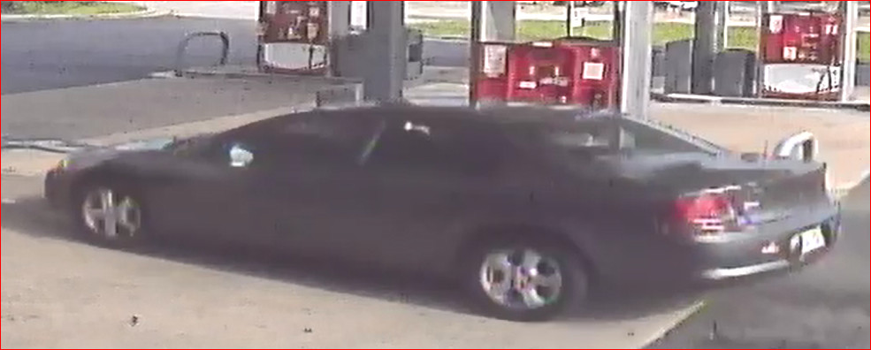 Pictured is the vehicle used to leave the scene after an Adairsville convenience store robbery Tuesday morning.