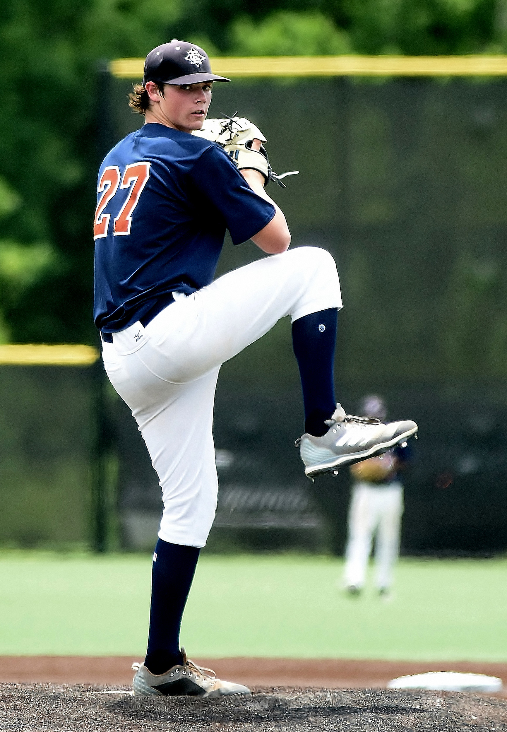 Florida commit Hunter Barco pitches for the East Cobb Astros during a pool-play game in the 2018 WWBA 17U National Championship on Monday at LakePoint.