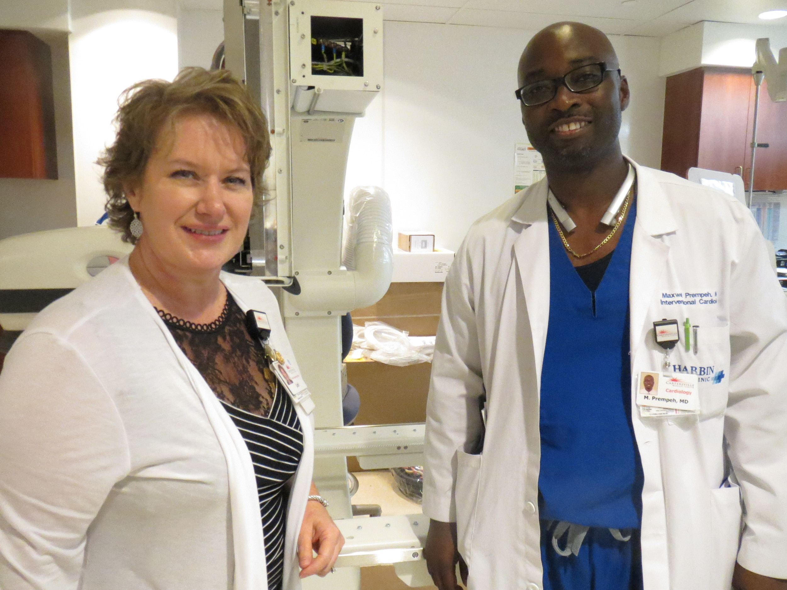 Cartersville Medical Center COO Lori Rakes and Medical Director of Cardiovascular Services Dr. Maxwell Prempeh say plans for cardiology services expansion will have a big impact on the local hospital.