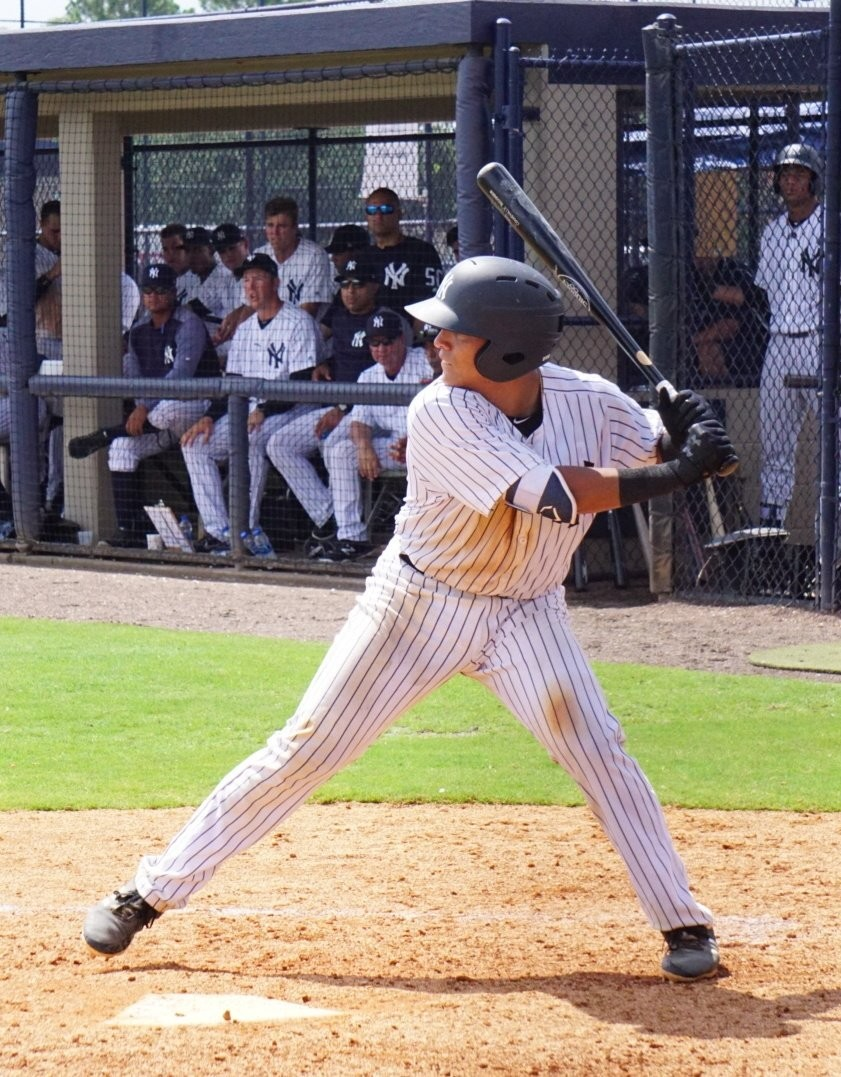 Cartersville High alum Anthony Seigler hit his first professional home run Monday in the first inning of the Gulf Coast League game between Yankees West and the Braves. Seigler's solo shot helped Yankees West earn a 7-5 win.