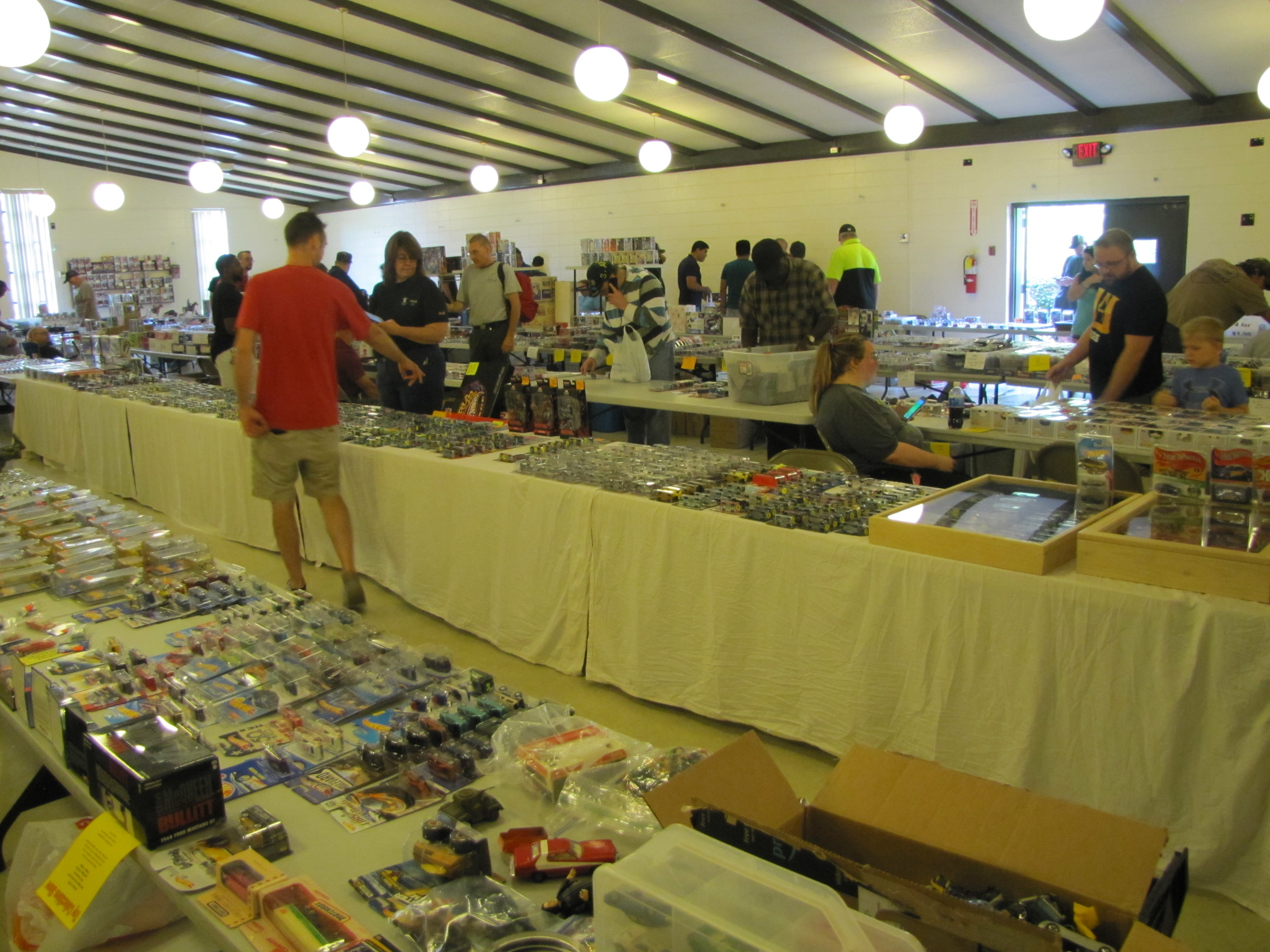 Promoter Jeff Powell said about 300 people attended Saturday's North Georgia Dixie Diecast and Toy Collectibles event in Cartersville.