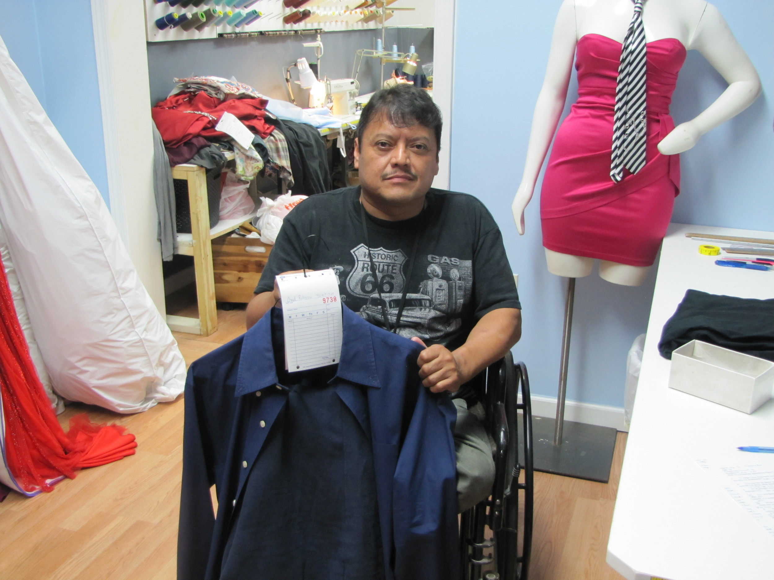 Jose S. Cervantes, 50, has operated Flawless Alterations in Cartersville for the last two years.
