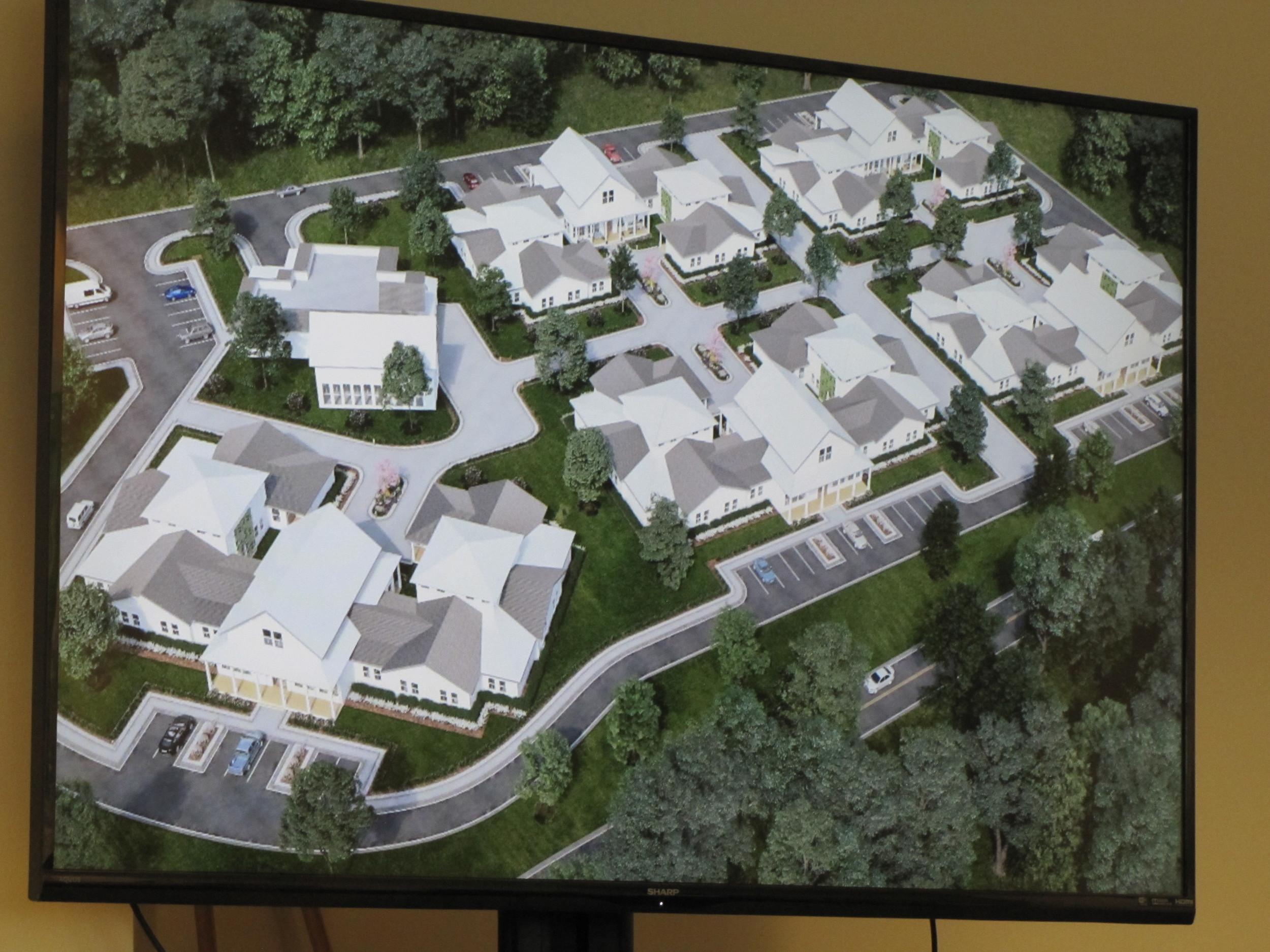 A virtual rendering of what the completed senior living center proposed for Peeples Valley Road may resemble.