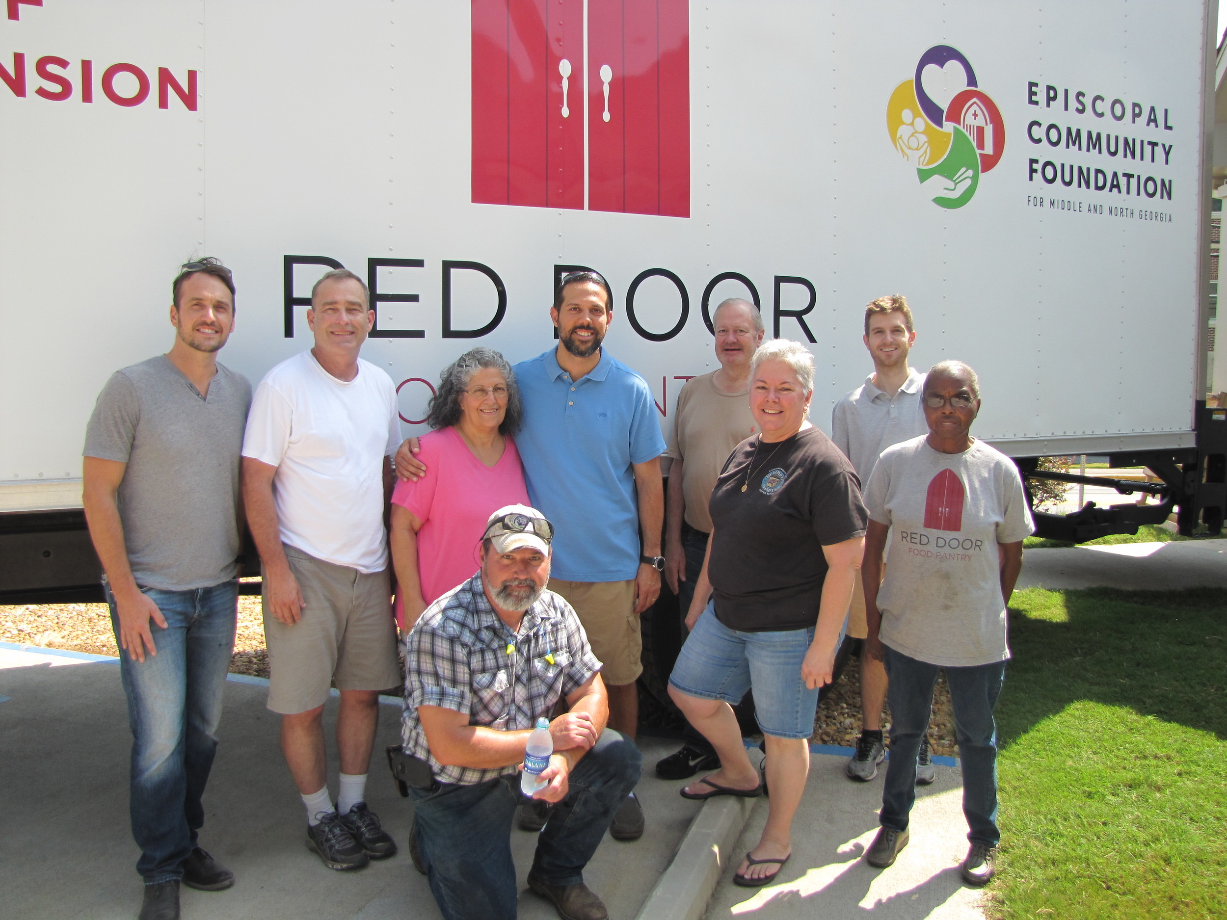 The Red Door Food Pantry in Cartersville receives a shipment around 11 a.m. the third Thursday of each month.