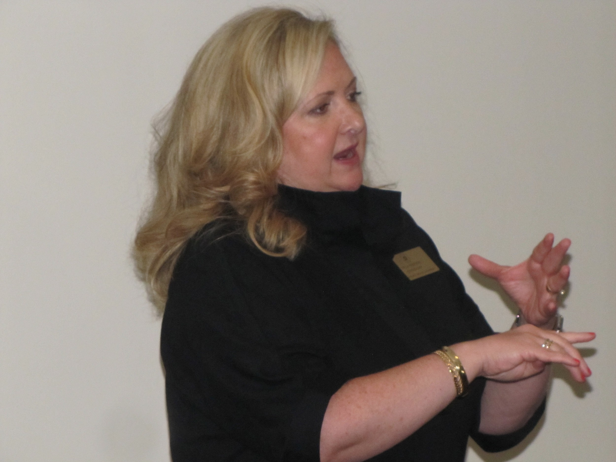 District 5 Public Service Commissioner Tricia Pridemore spoke at Wednesday's North Georgia Power Connectors luncheon in Cartersville.