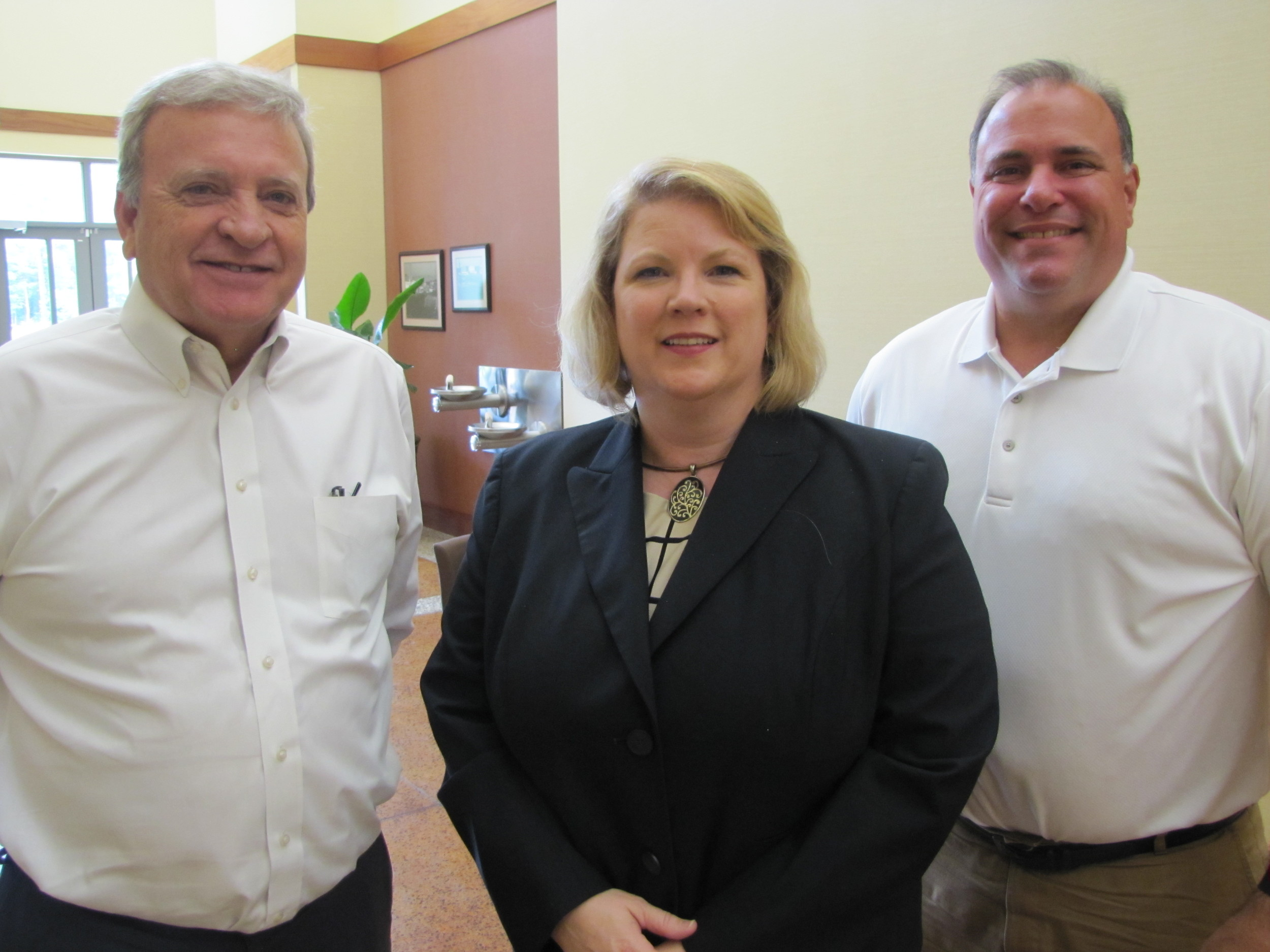 From left, Bartow County Commissioner Steve Taylor, Cartersville-Bartow County Department of Economic Development Executive Director Melinda Lemmon and Cartersville Mayor Matt Santini said they're thrilled by the community's recent gains in employment — but they're still concerned by the number of jobs local employers remain unable to fill.
