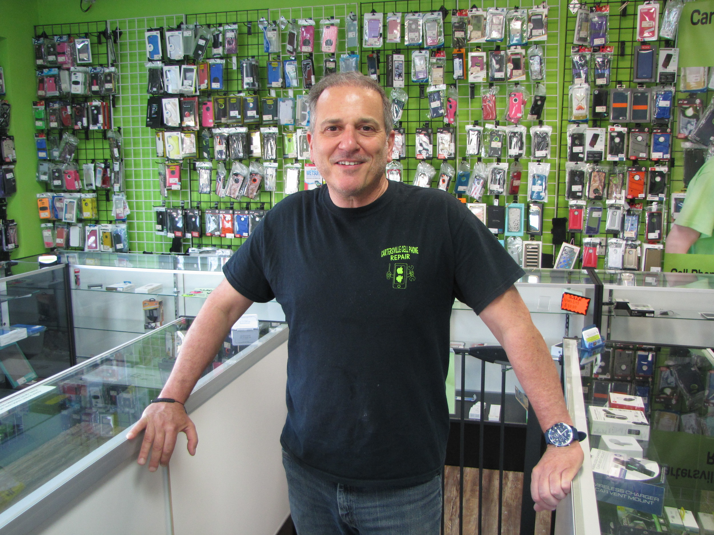 Cartersville Cell Phone Repair owner Chris Nichols offers a wide variety of services and products at his 106 Merchants Square Drive business.