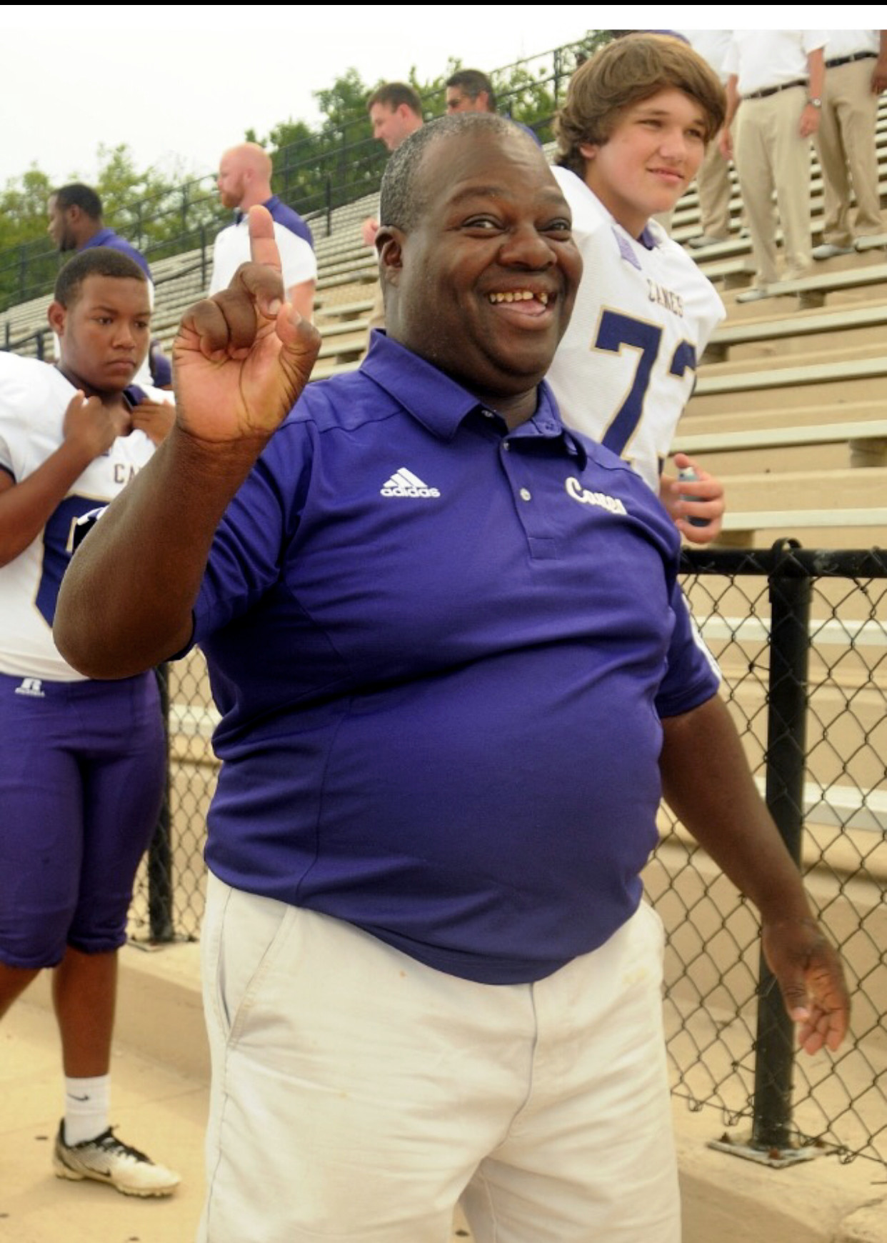"Edgar Moore has spent more than three decades as manager for the Cartersville football team. ""E"" continues to help players and coaches every Friday night and every practice, as well."