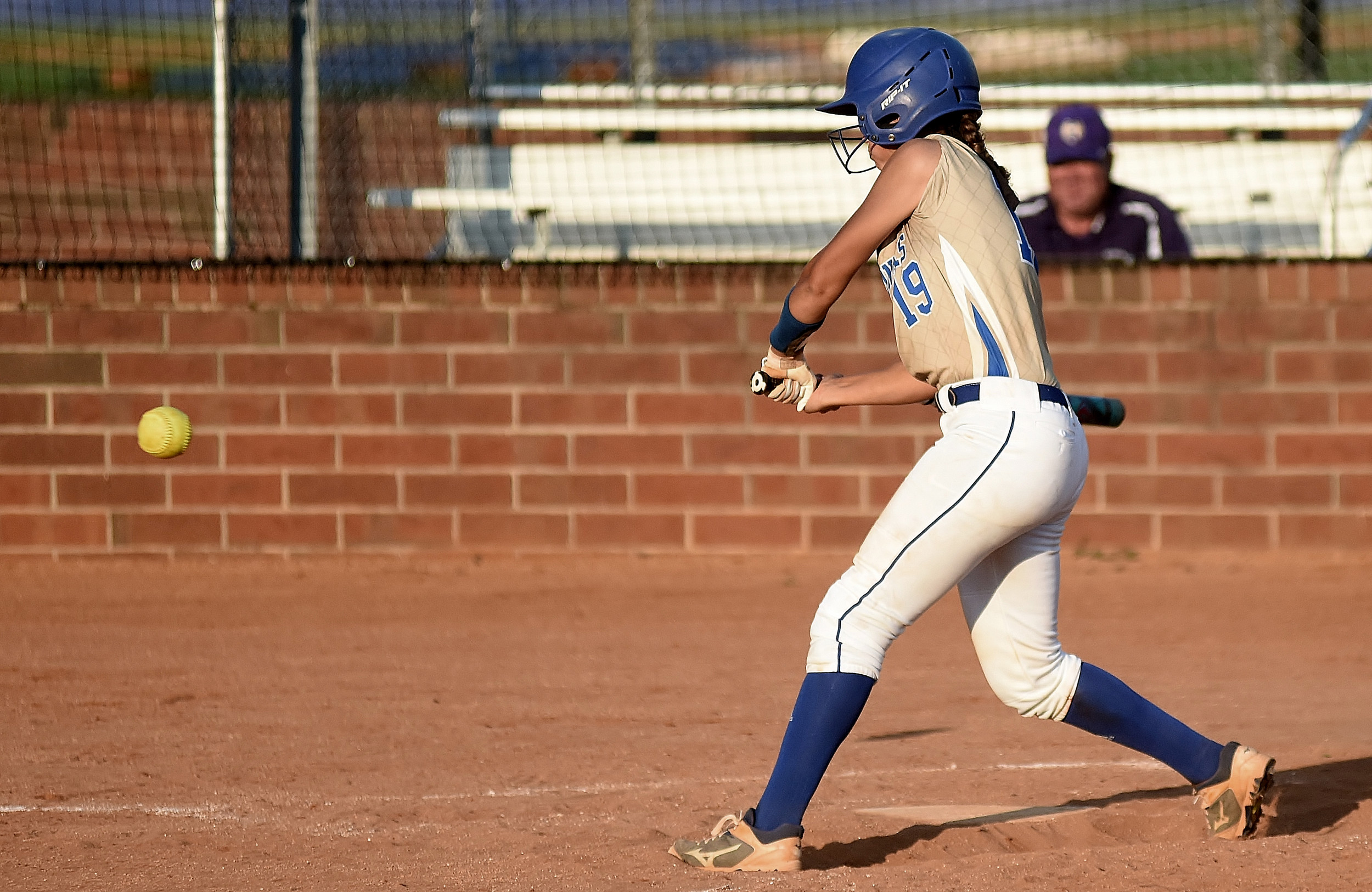 Cass sophomore Jaden Musacchio prepares to drive a double Tuesday against Hiram.
