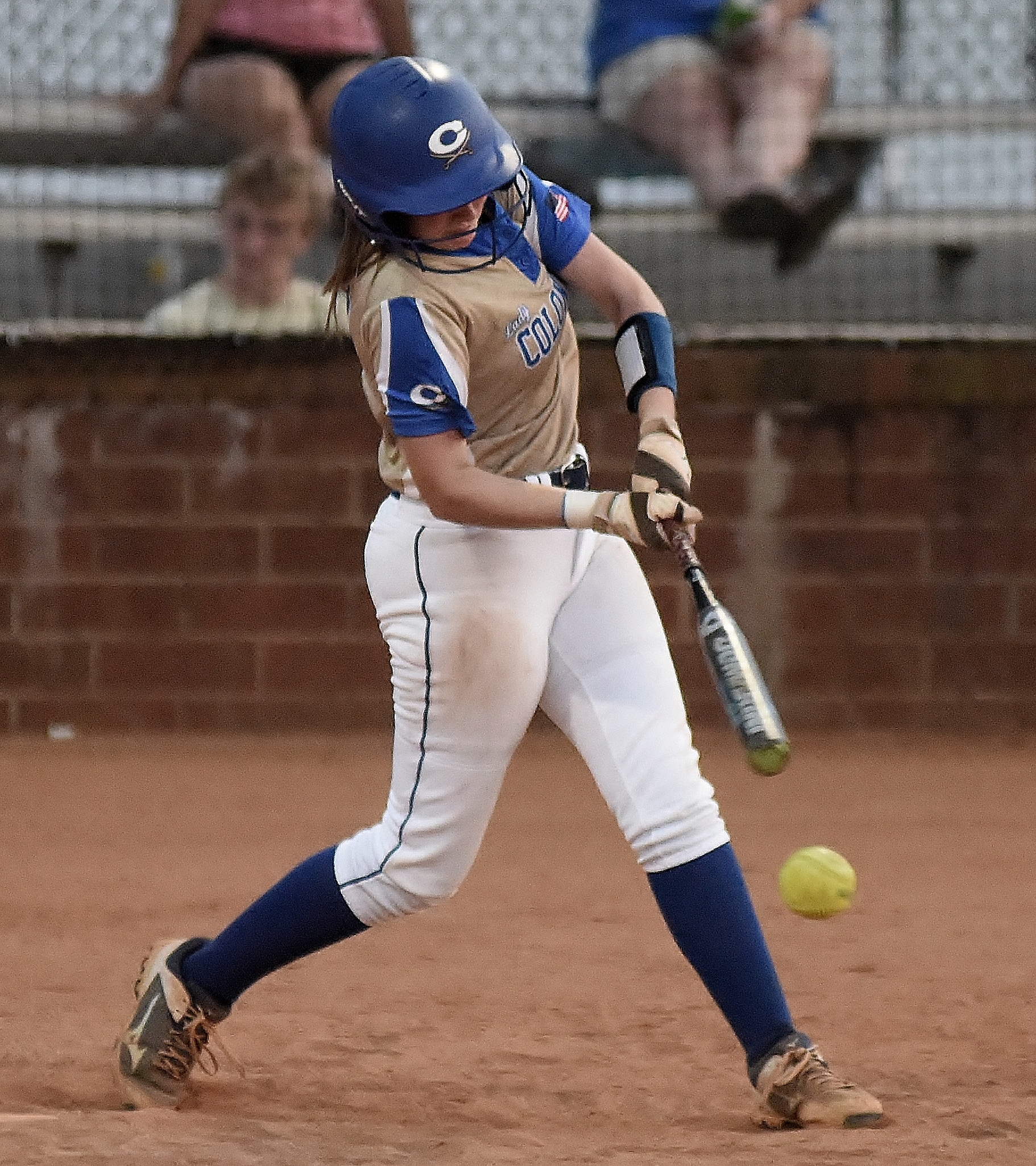Cass sophomore Haley Smith delivers a base hit Tuesday against Hiram.