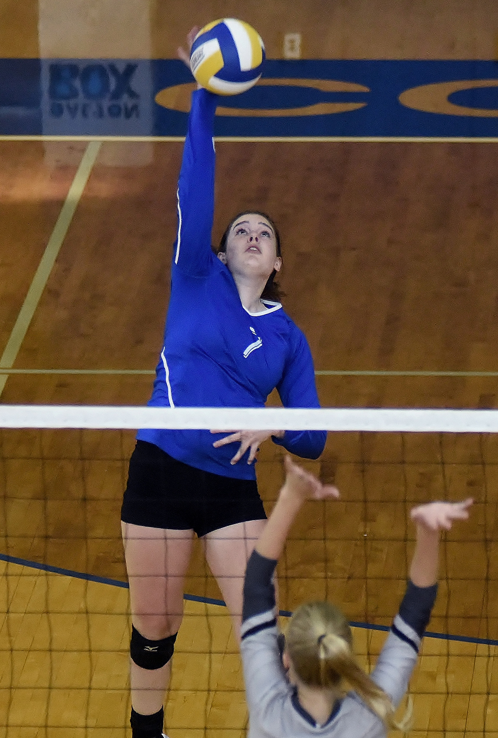 Cass' Keegan Krause goes for a kill against East Paulding. Krause had two kills in the match, and she added three more in a two-set loss to Kell later in the evening.