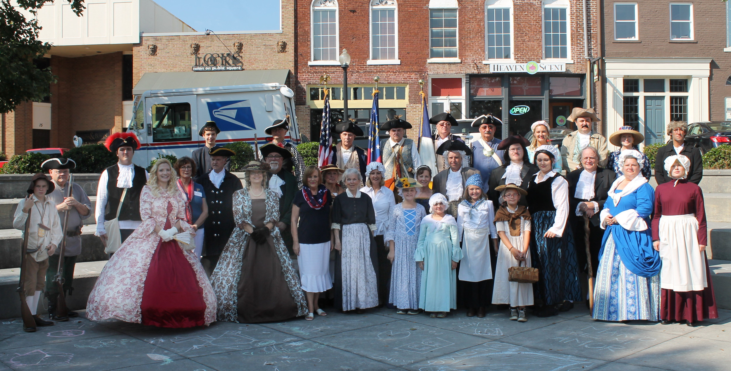 Actors portray historical figures from 1776 during last year's Constitution Week celebration in downtown Cartersville.