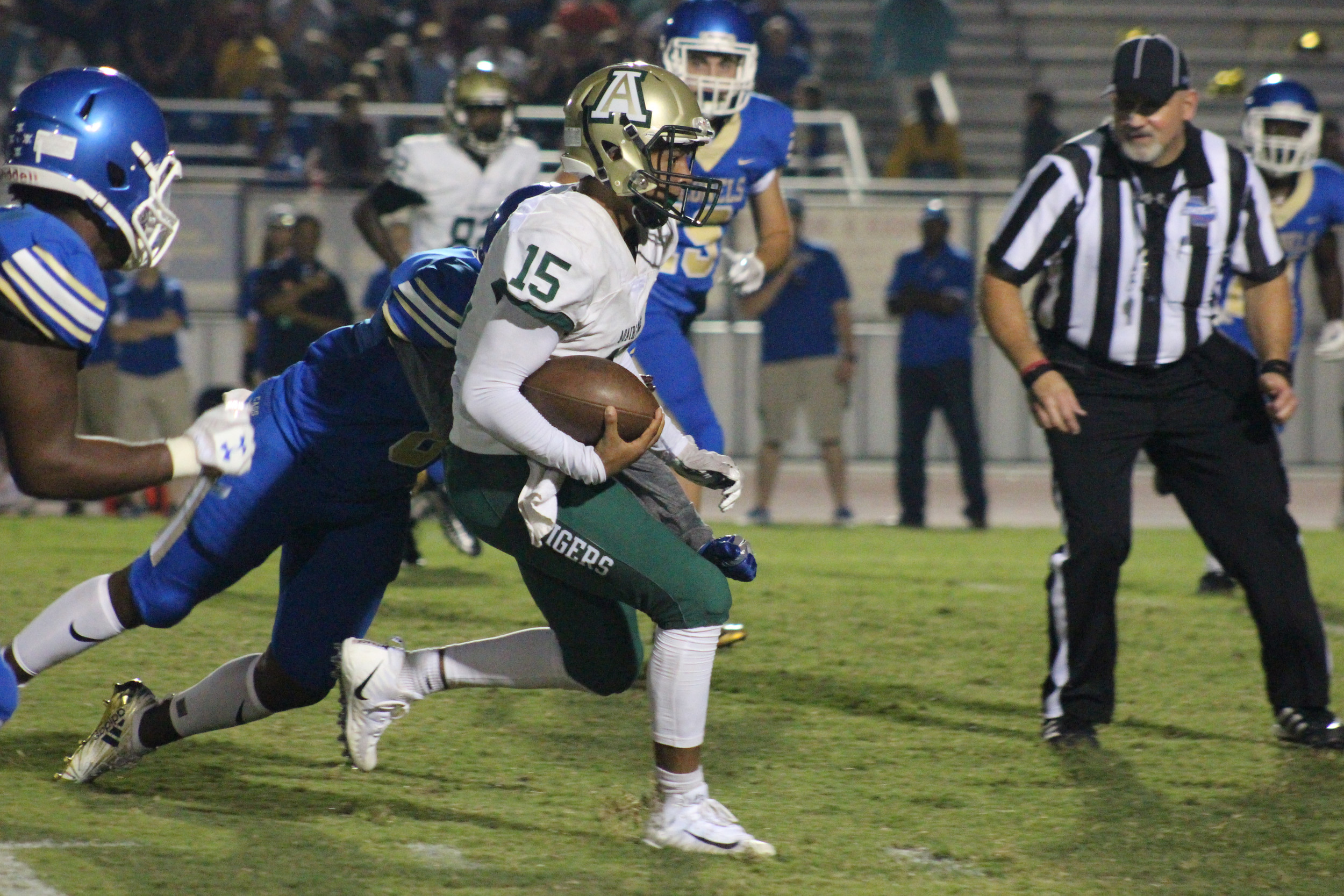 Adairsville junior quarterback Derrick Simmons runs the ball during a game at Cass High on Aug. 24. Simmons and the Tigers will take on Haralson County Friday in Tallapoosa.