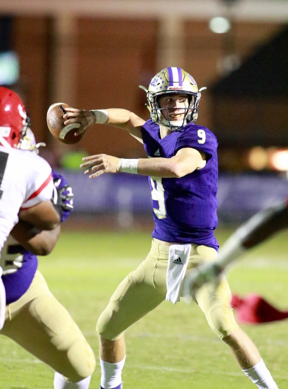 Cartersville junior quarterback Tee Webb throws a pass during last week's game against McNair at Weinman Stadium. The 2018 season could not have gotten off to a much better start for Webb and the Canes, and they hope to keep it going Friday night at home against Class 7A Cherokee.