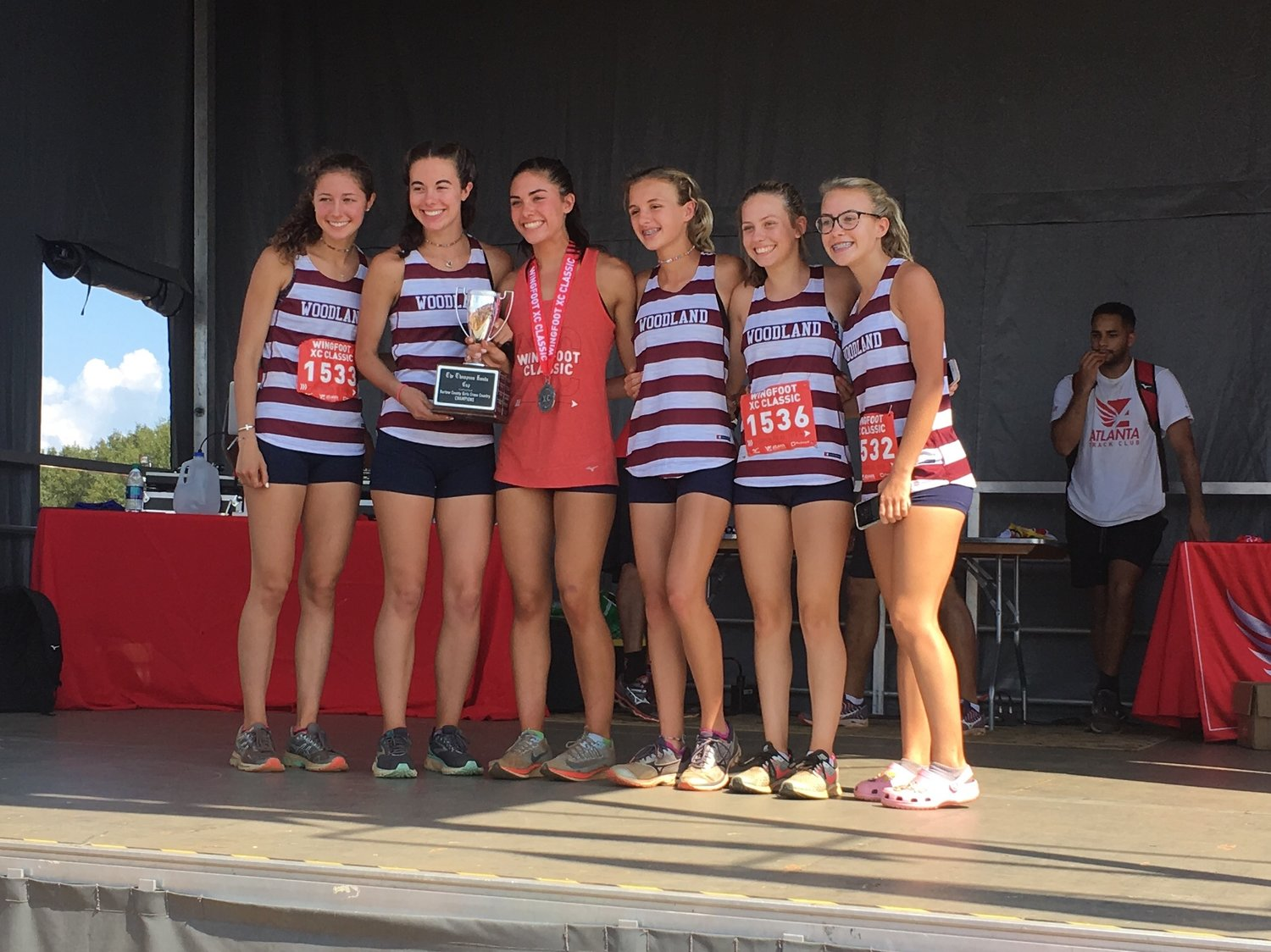The Woodland High girls cross country team was crowned girls Bartow County champ after placing fourth in the championship race Saturday during the Wingfoot XC Classic at Sam Smith Park.