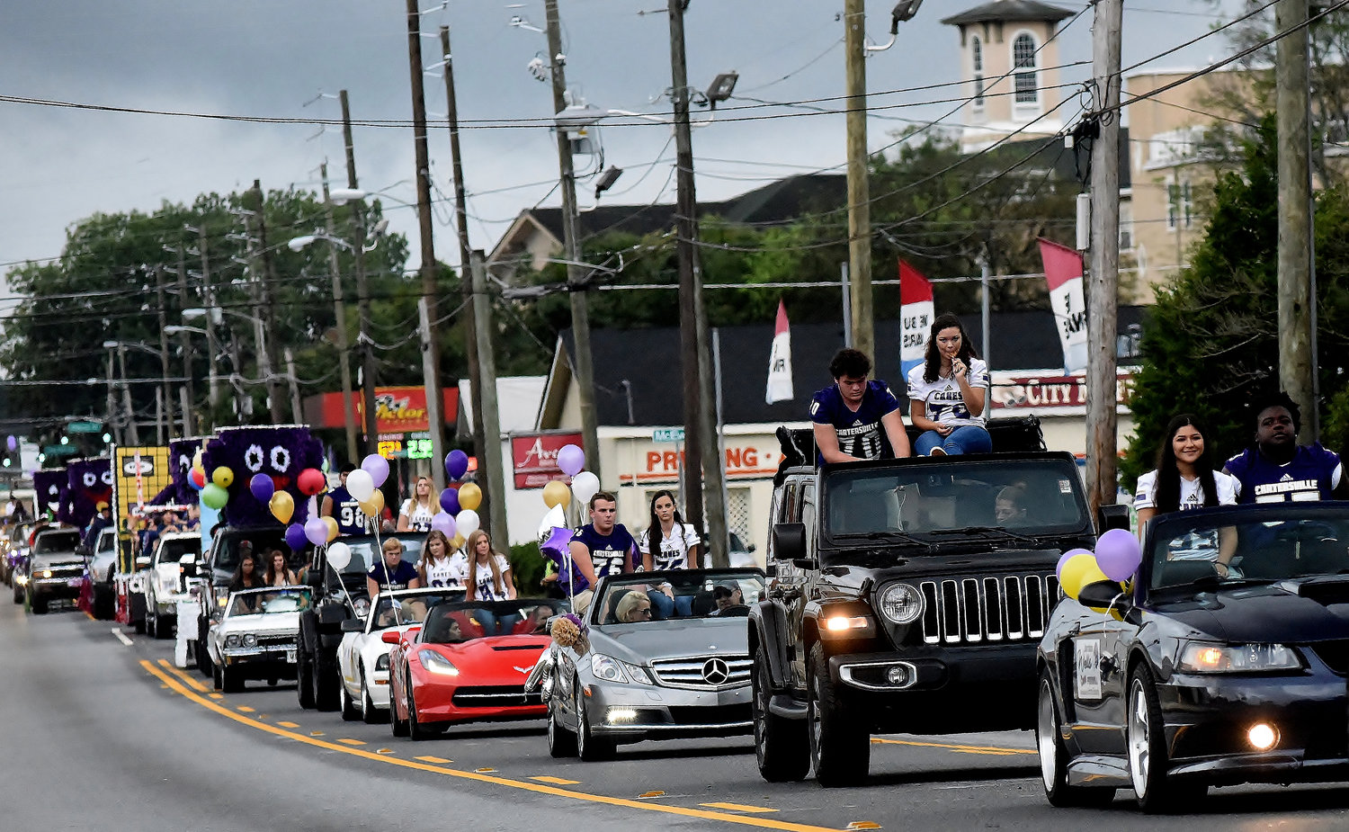 The 2018 Cartersville High School homecoming parade makes its way up Tennessee Street Thursday afternoon. Tonight's homecoming game features the Canes against Central-Carroll at 7:30 at Weinman Stadium.
