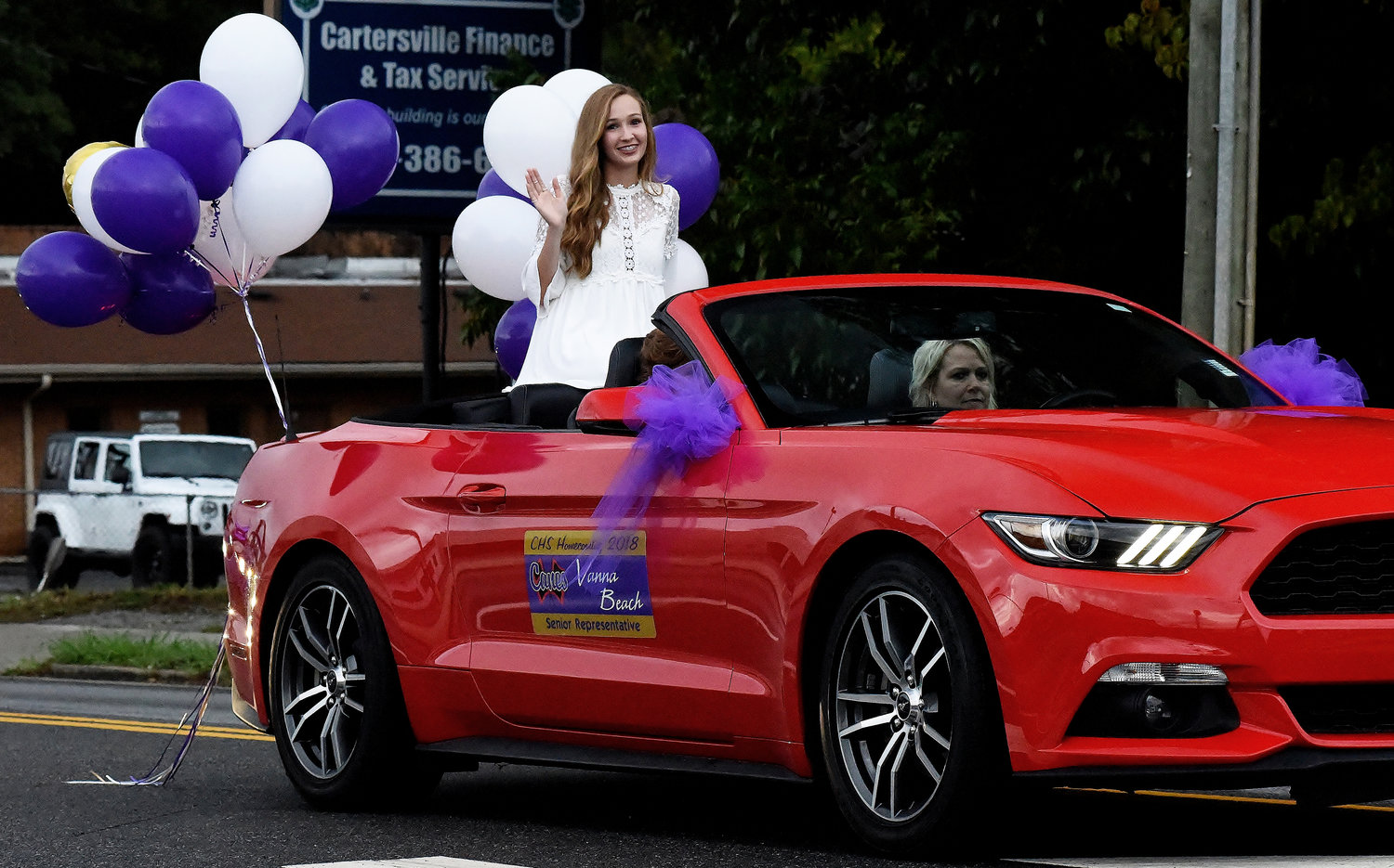 Homecoming Court senior representative Vanna Beach in the 2018 CHS homecoming parade.