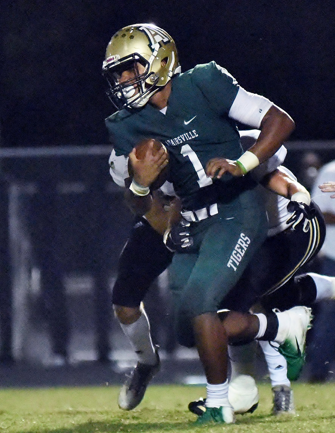 Adairsville senior Mason Boswell runs the ball against Calhoun during Friday night's game at Tiger Valley.