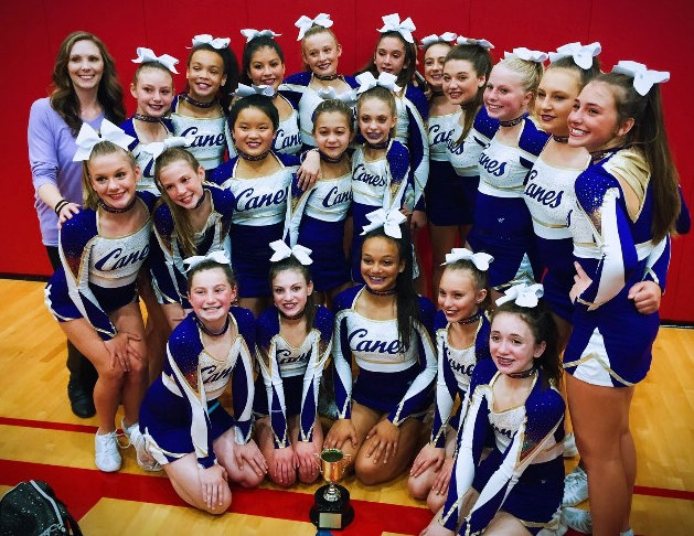 The Cartersville Middle School cheer team placed second in the state competition this past weekend in Jefferson. It's the highest finish in program history for the Canes.