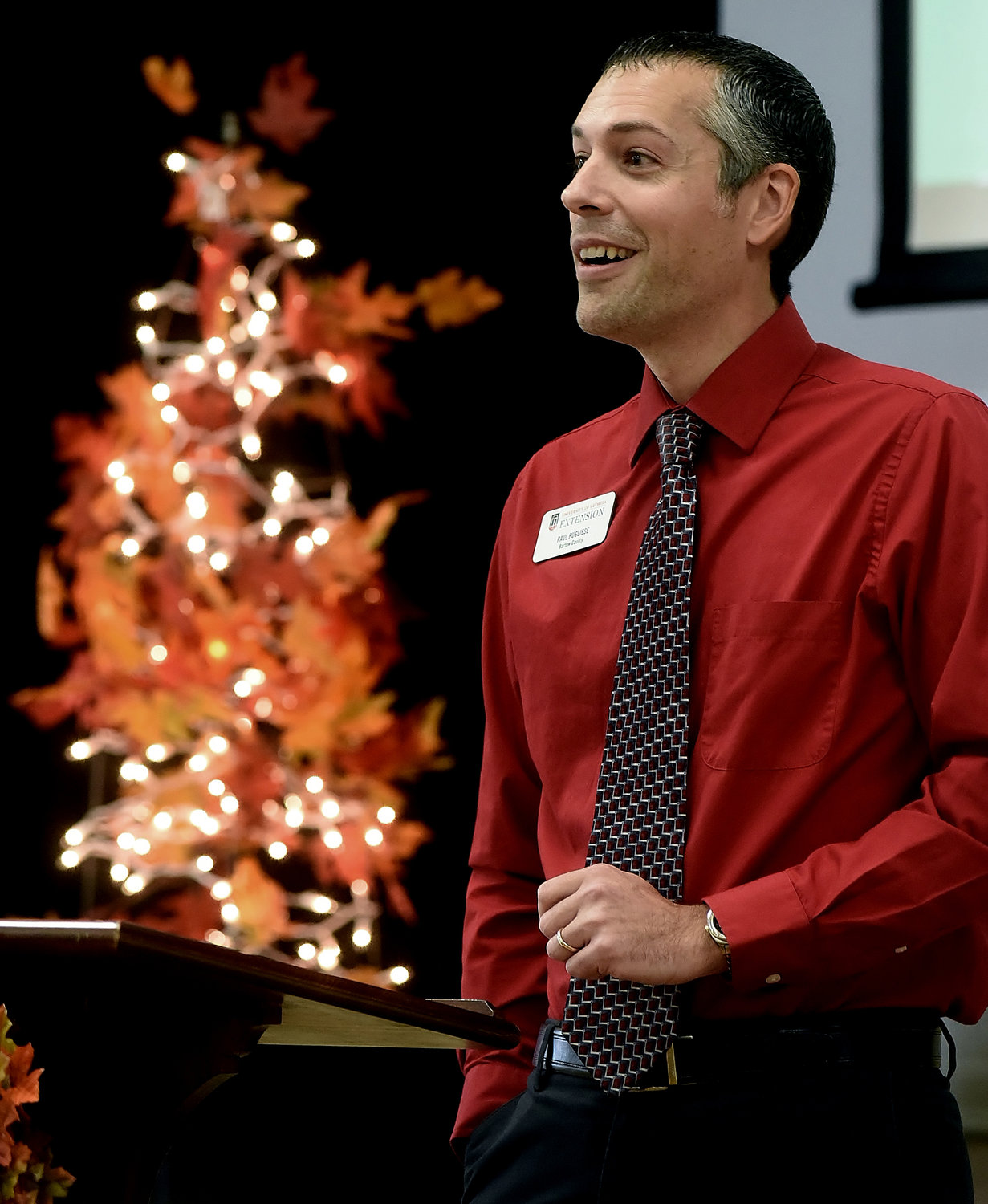 County Extension Coordinator Paul Pugliese addresses the attendees of the Bartow County SNAP-Ed Appreciation Luncheon Nov. 29.