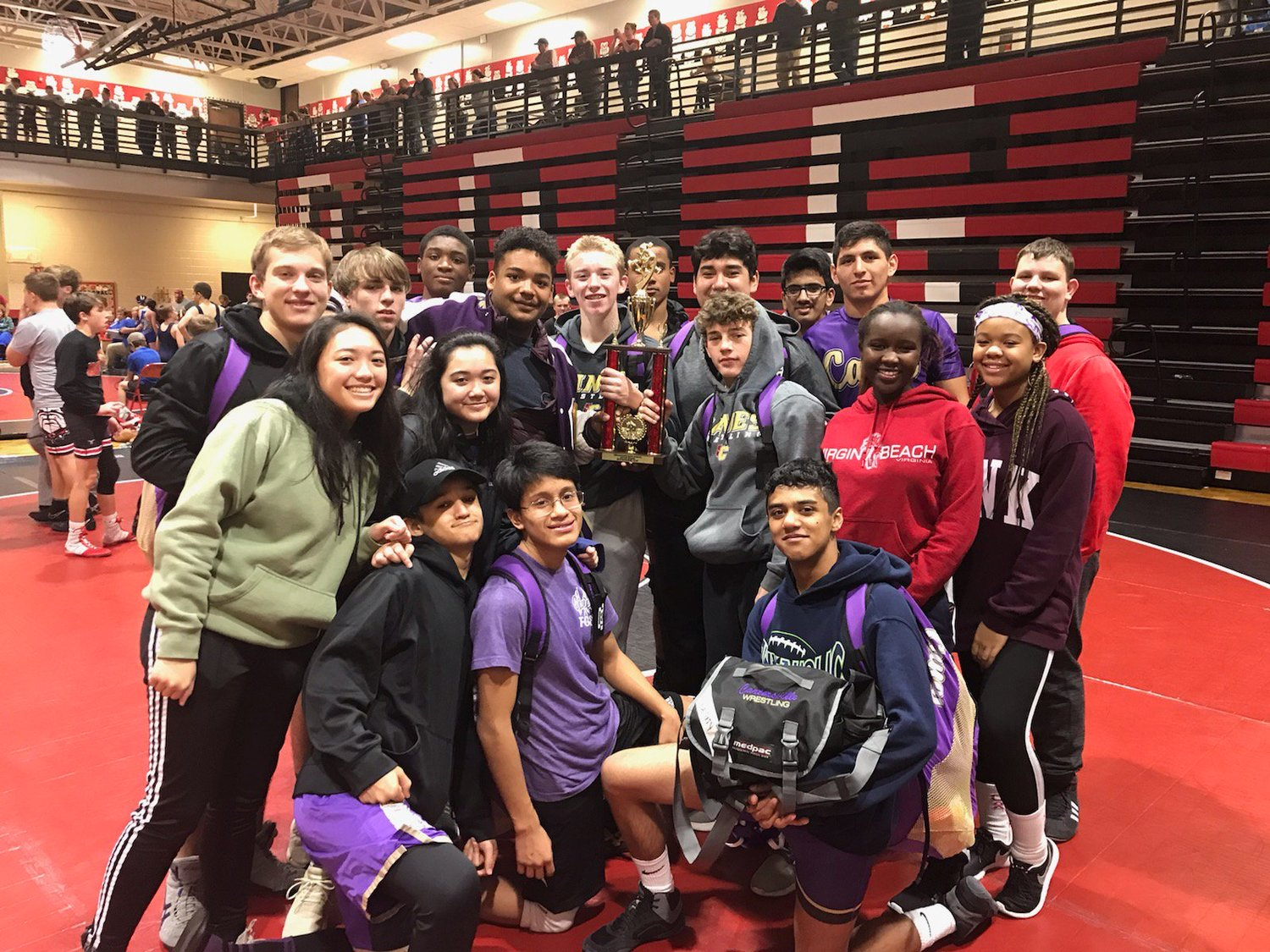 The Cartersville High wrestling team placed second in the Bulldog Brawl Duals Saturday at Cedartown.