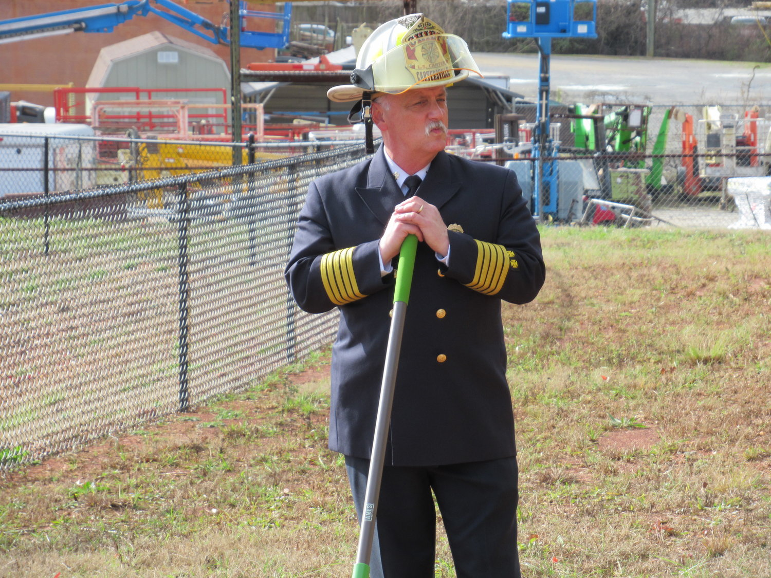Cartersville Fire Chief Scott Carter said he's been waiting to see construction get underway on the new No. 3 fire station since 2007.