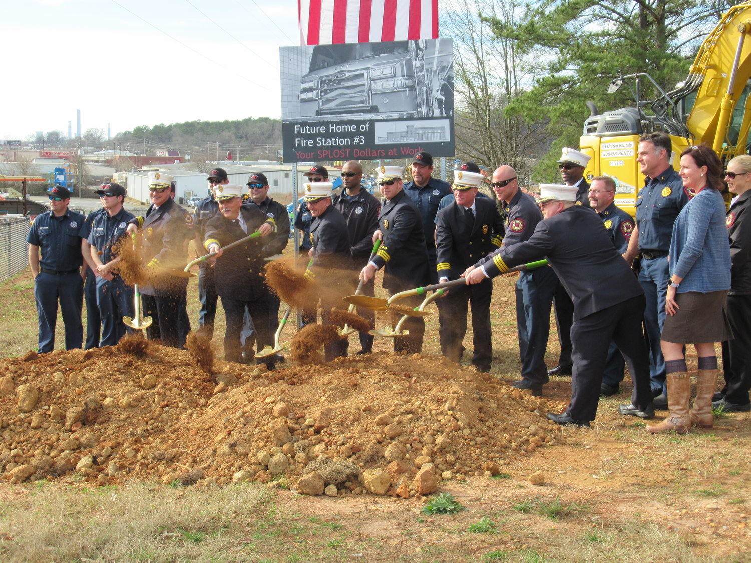 The new No. 3 fire station in construction along Village Hill Drive is expected to go into operation this fall.
