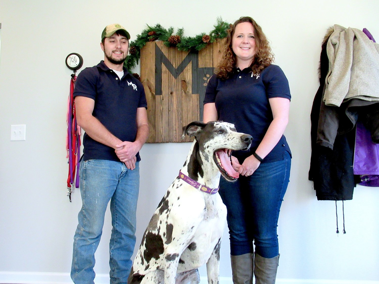 Rebecca and Jon Tyler Ylvisaker — alongside their 8-year-old Irish Wolfhound/Great Dane mix Pepsi — opened Mission Road Kennels in Cartersville late last year.