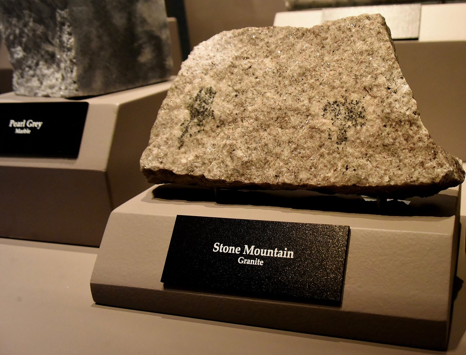 "Rocks and minerals from different areas of Georgia are on display in the ""Georgia Stone: Building a Nation"" exhibit at Tellus Science Museum."