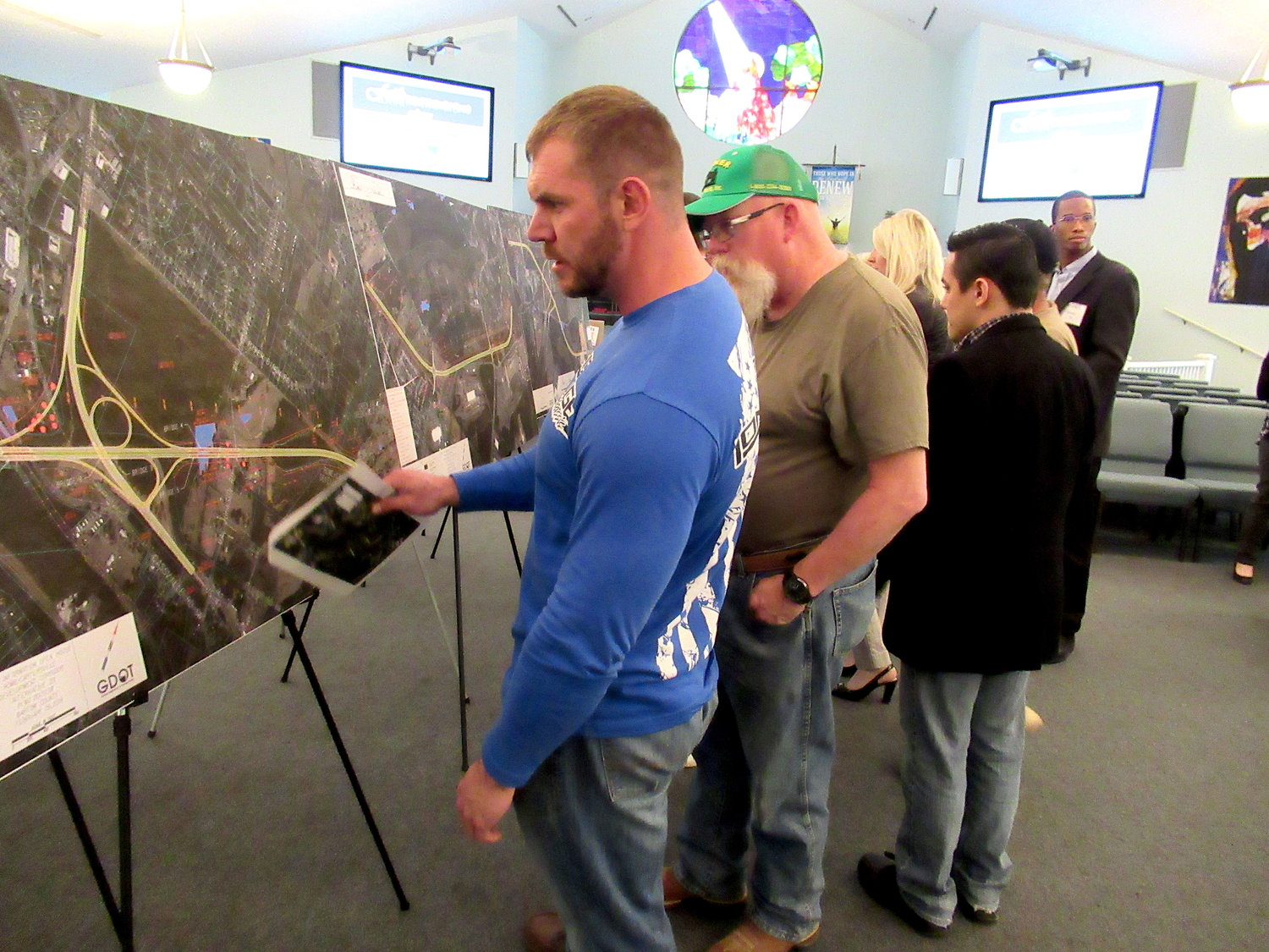 More than 100 people attended a GDOT open house presentation on the Rome-Cartersville Development Corridor at Faith United Methodist Church in Cartersville Tuesday.
