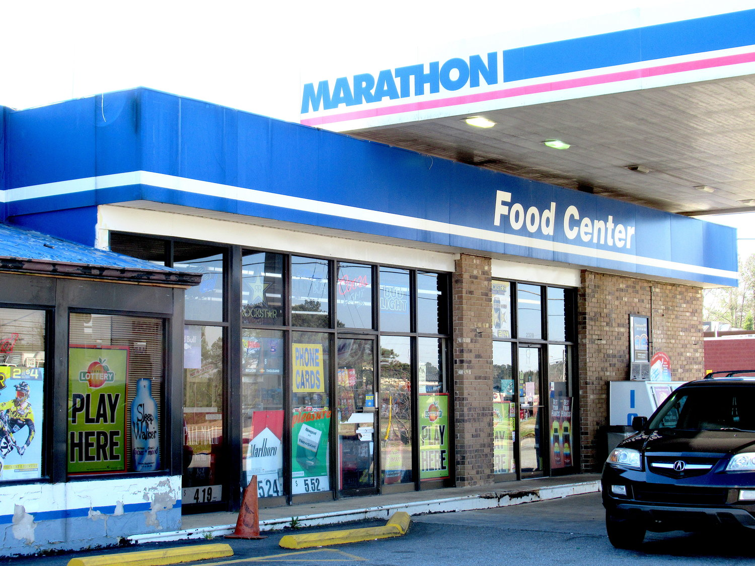 The Marathon-branded gas station at 2320 Highway 411 NE was raided by the Georgia Bureau of Investigation and the Bartow-Cartersville Drug Task Force Tuesday as part of a commercial gambling bust.