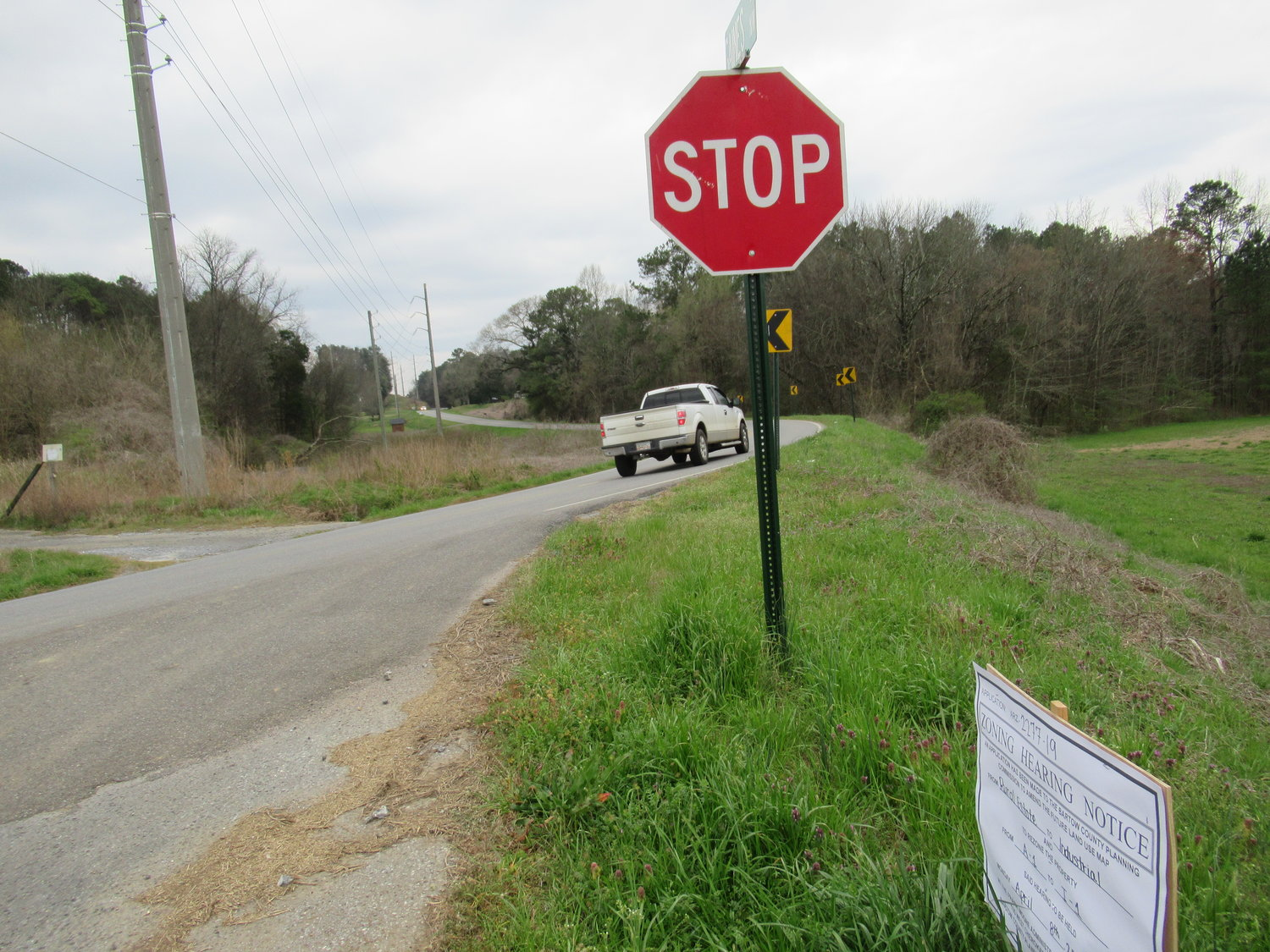 A rezoning hearing for 122 acres along Gaines Road and Spring Place Road will be tabled for at least six months after a real estate developer failed to comply with County public notice procedures.