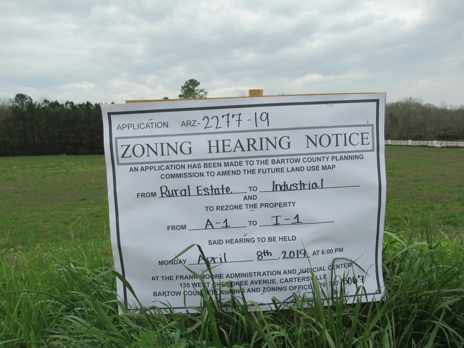 After a real estate developer failed to comply with County public notice procedures, a rezoning hearing for roughly 122 acres along Gaines Road and Spring Place Road will be delayed for at least six months.