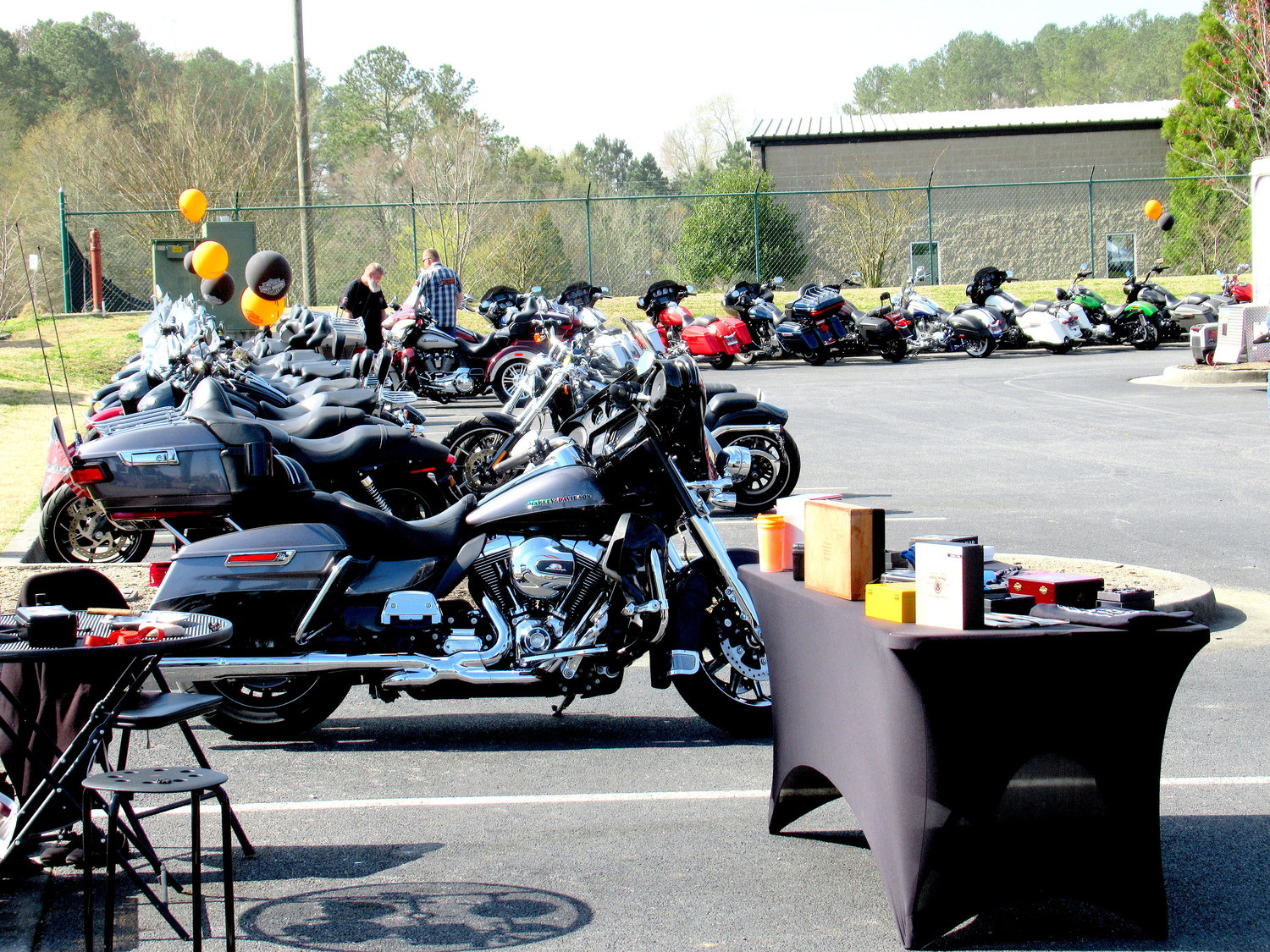 "More than 100 attendees rolled into Saturday's ""Swap Invasion"" event at Southern Devil Harley-Davidson in Cartersville."