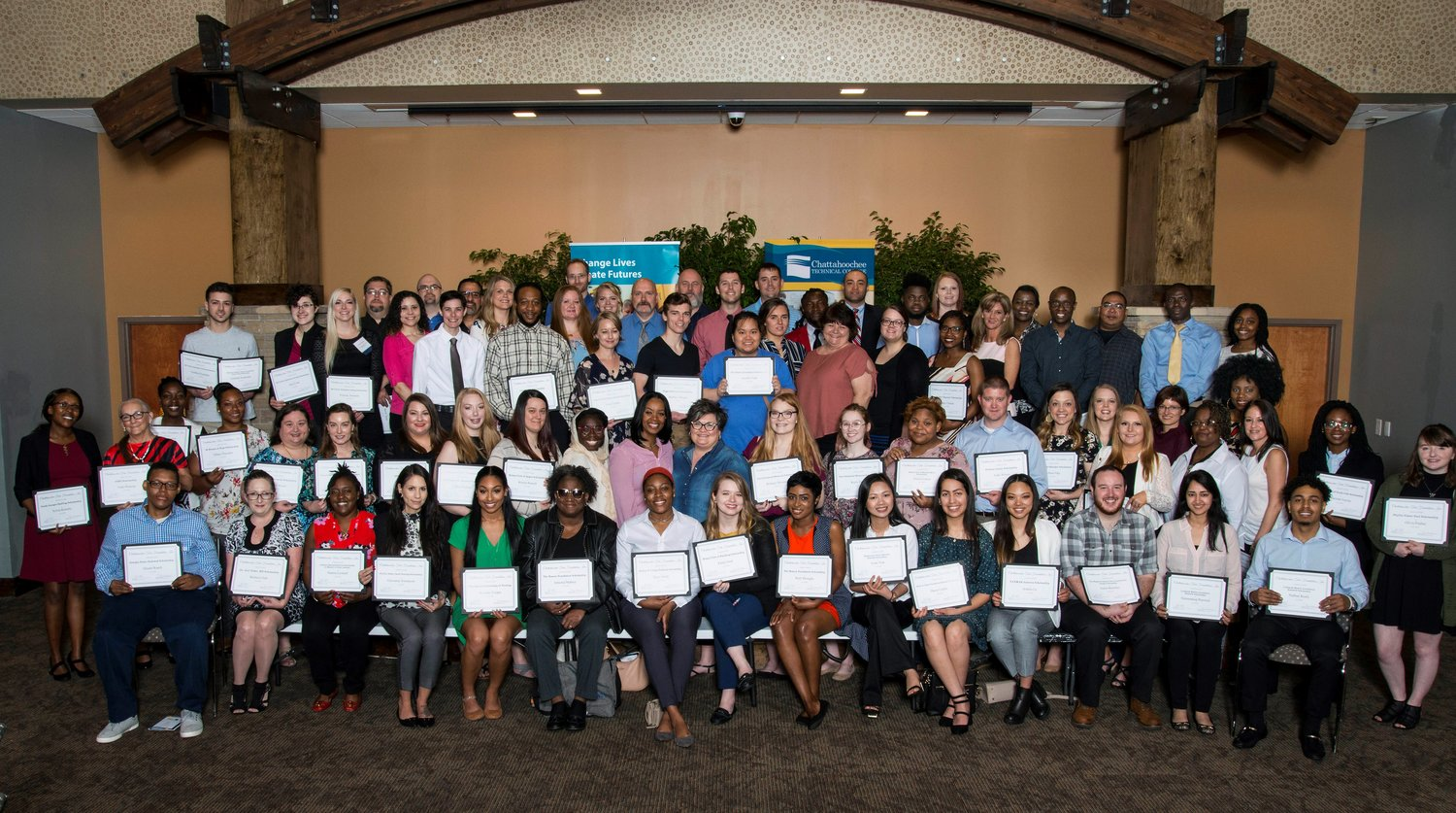 Five students from Bartow County were among the Chattahoochee Tech Foundation scholarship recipients honored at an awards luncheon at Chattahoochee Tech's North Metro campus in Acworth April 12.