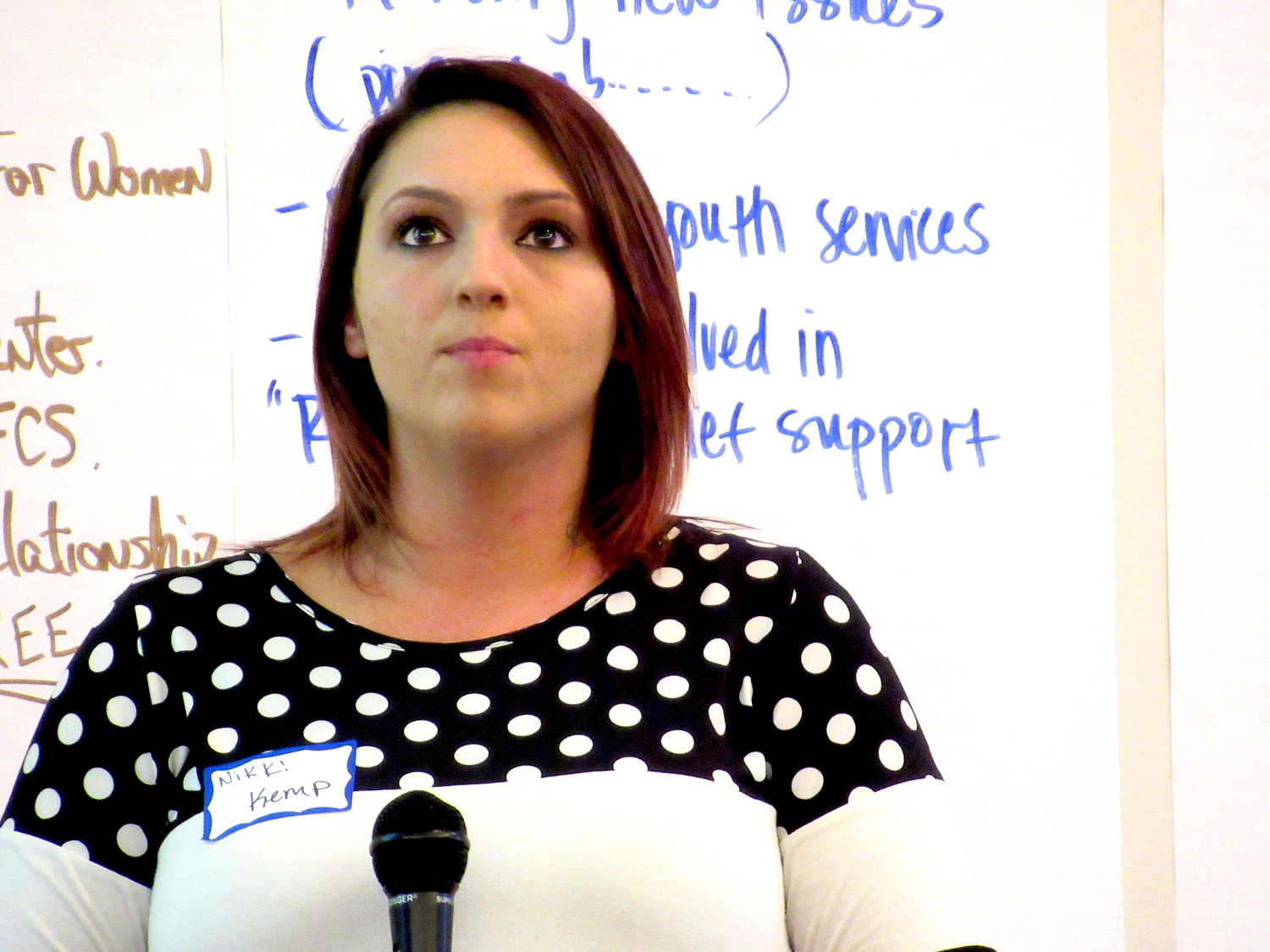 Nikki Kemp, of Polk County's Mosaic Place Recovery Community and Resource Center, spoke at Thursday's Georgia Council on Substance Abuse meeting in Cartersville.