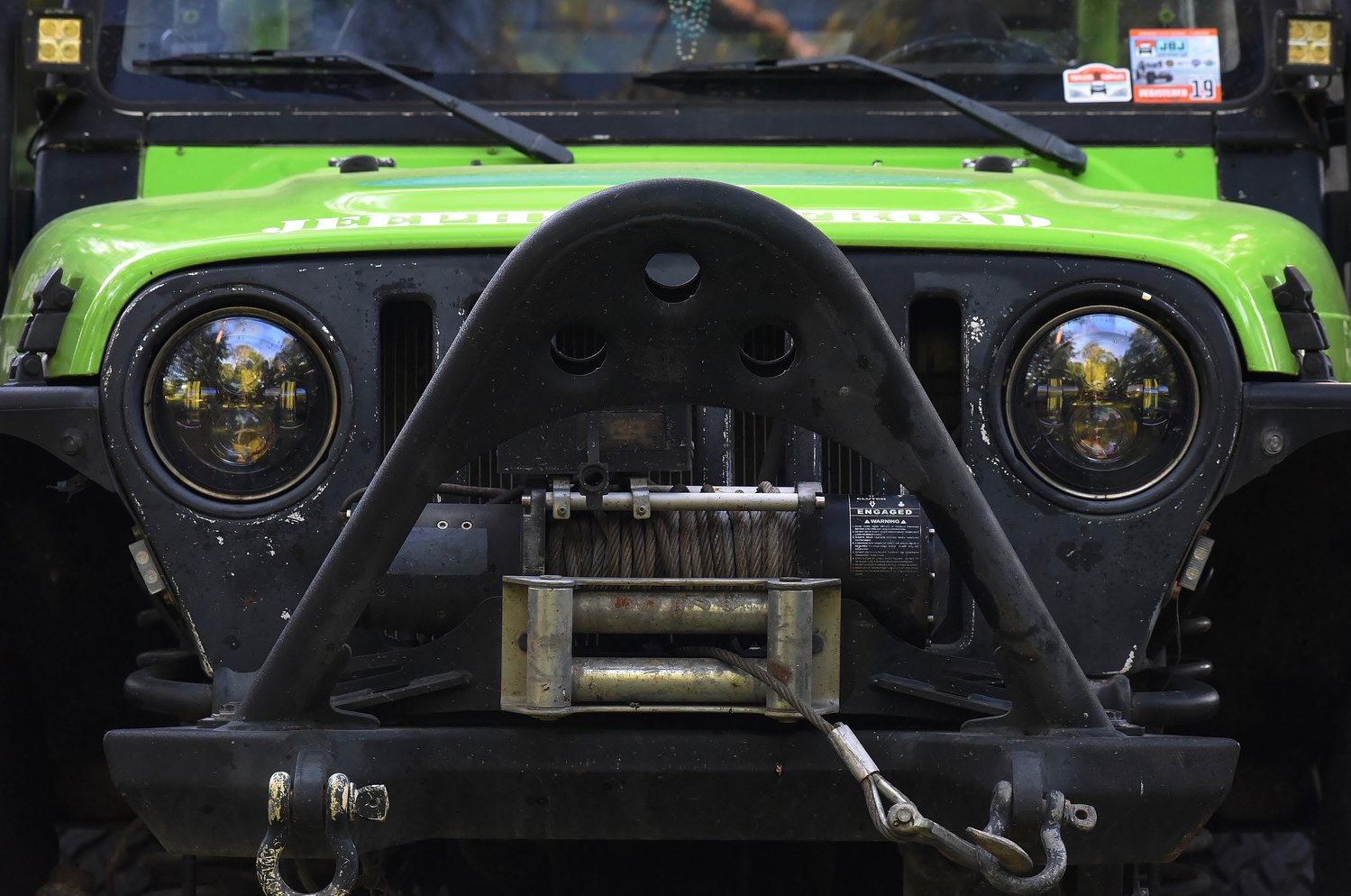 Bright paint jobs and accessories, such as a winch, are not uncommon on Jeeps. Members of Bartow Krawlers are joining other off-road enthusiasts in organizing the inaugural Euharlee 4-Wheel Drive Show Saturday.