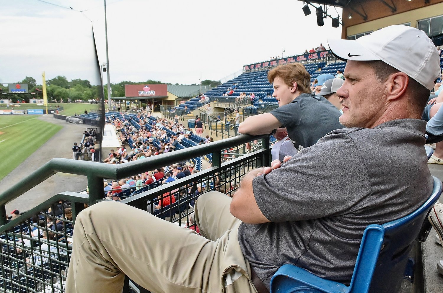 Cartersville High School Assistant Administrator Marc Collier and his family were on hand at State Mutual Stadium in Rome Tuesday night to watch CHS alumnus Anthony Seigler play for the Charleston RiverDogs against the Rome Braves.